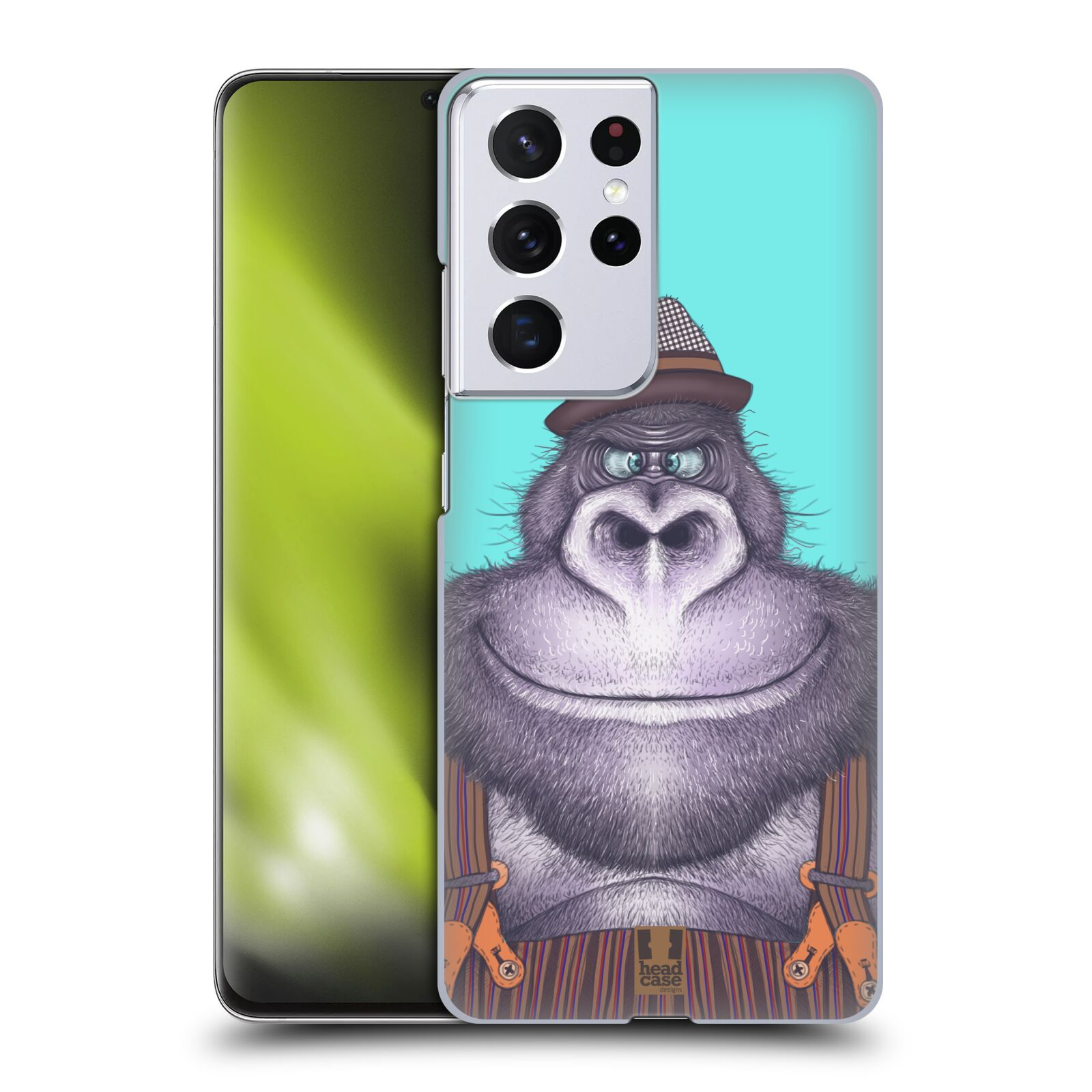 Plastové pouzdro na mobil Samsung Galaxy S21 Ultra 5G - Head Case - ANIMPLA GORILÁK