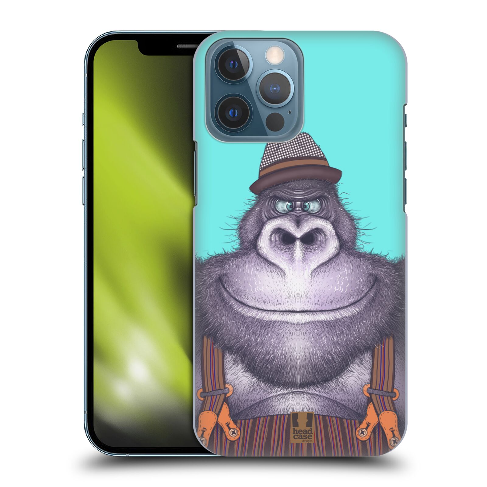 Plastové pouzdro na mobil Apple iPhone 13 Pro Max - Head Case - ANIMPLA GORILÁK