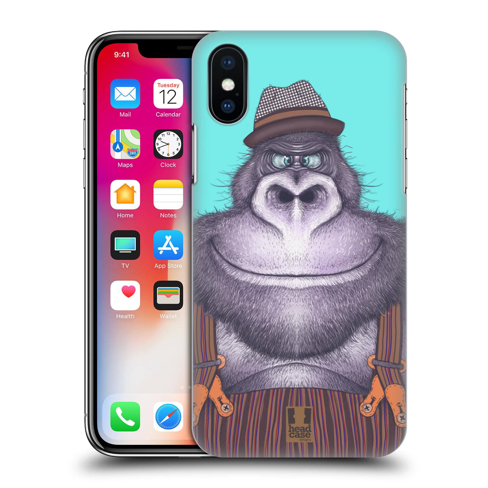 Plastové pouzdro na mobil Apple iPhone X - Head Case - ANIMPLA GORILÁK