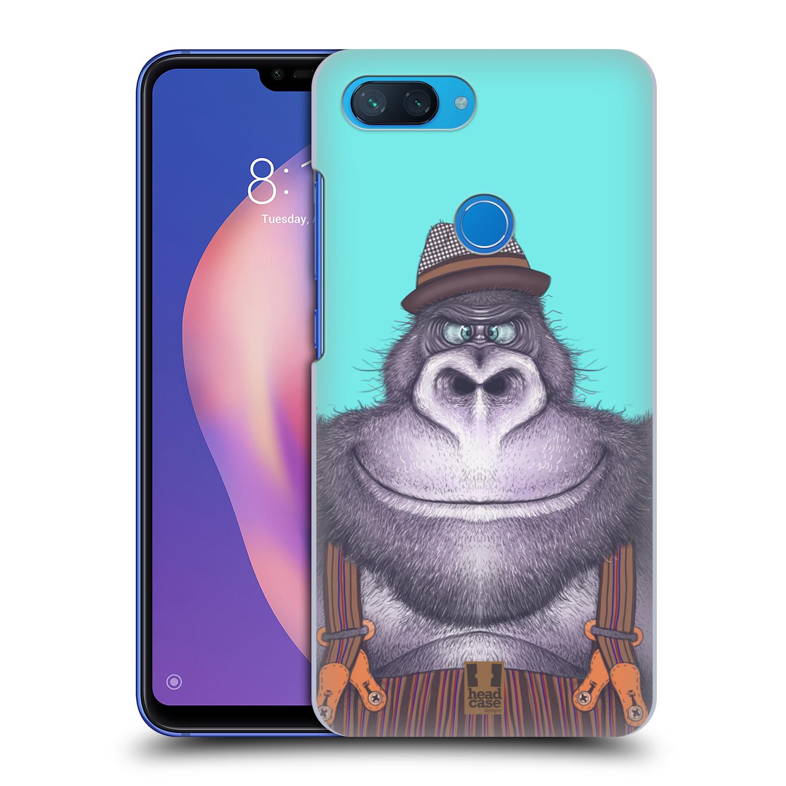 Plastové pouzdro na mobil Xiaomi Mi 8 Lite - Head Case - ANIMPLA GORILÁK