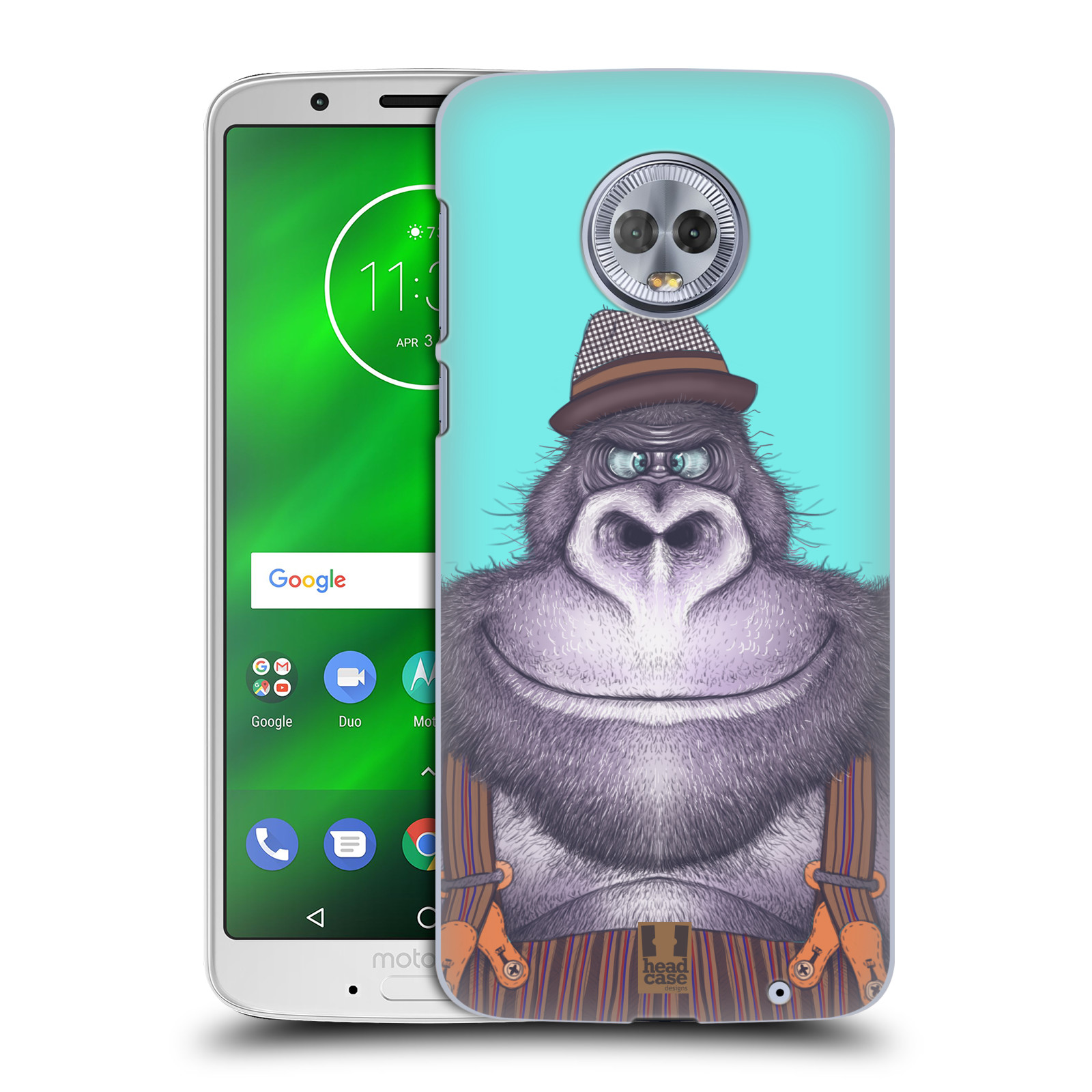 Plastové pouzdro na mobil Motorola Moto G6 Plus - Head Case - ANIMPLA GORILÁK
