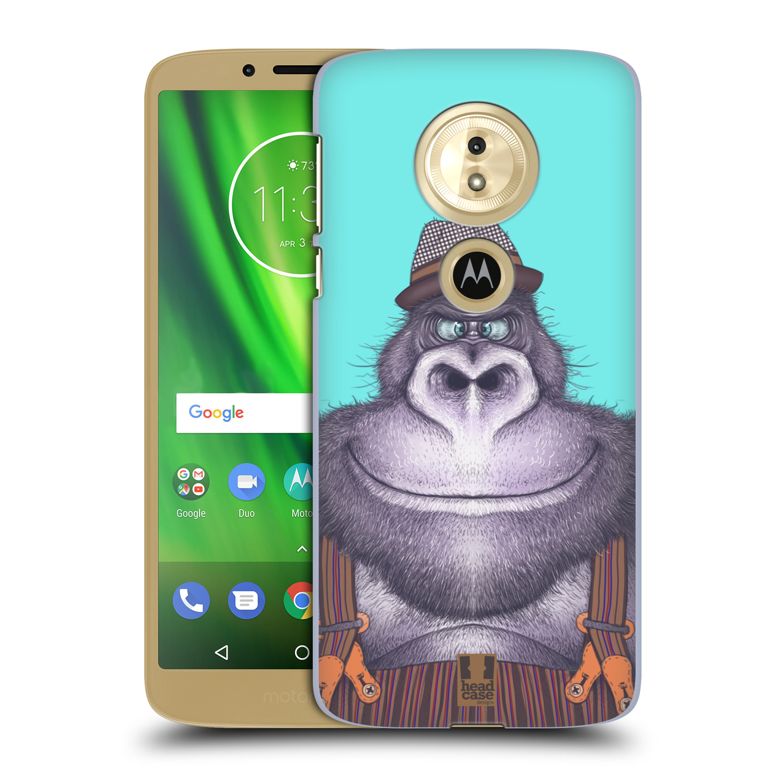 Plastové pouzdro na mobil Motorola Moto G6 Play - Head Case - ANIMPLA GORILÁK