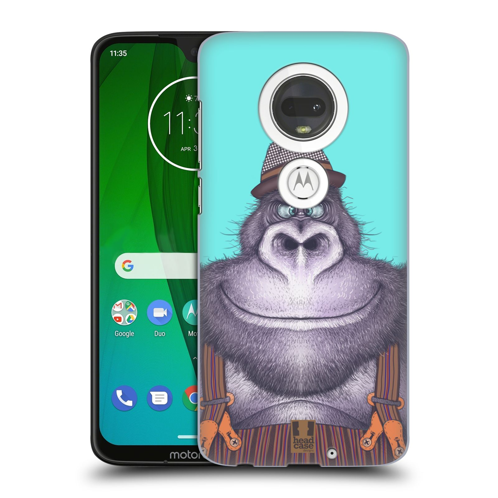 Plastové pouzdro na mobil Motorola Moto G7 - Head Case - ANIMPLA GORILÁK