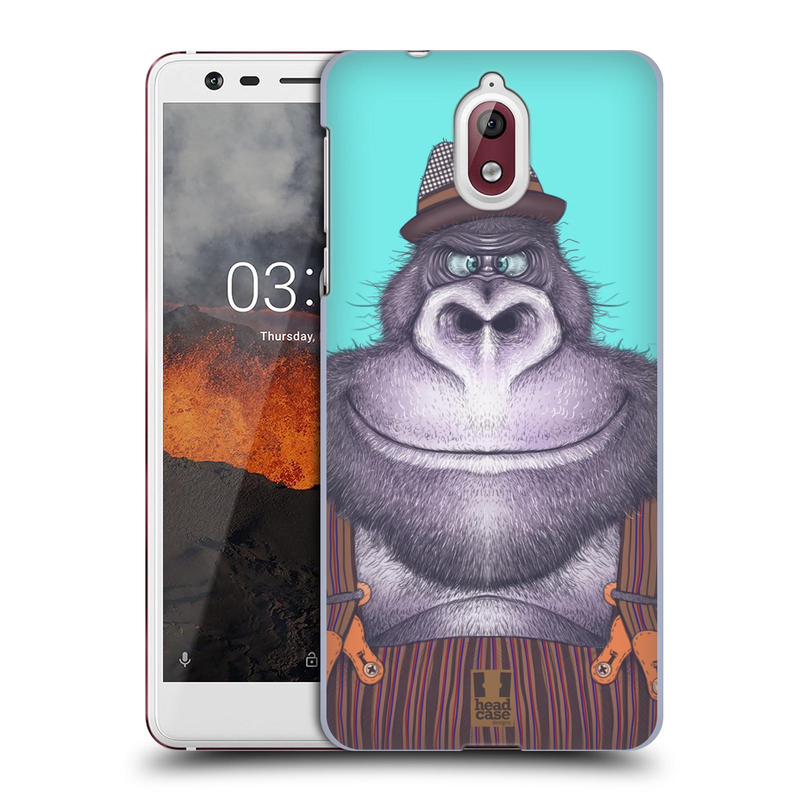 Plastové pouzdro na mobil Nokia 3.1 - Head Case - ANIMPLA GORILÁK