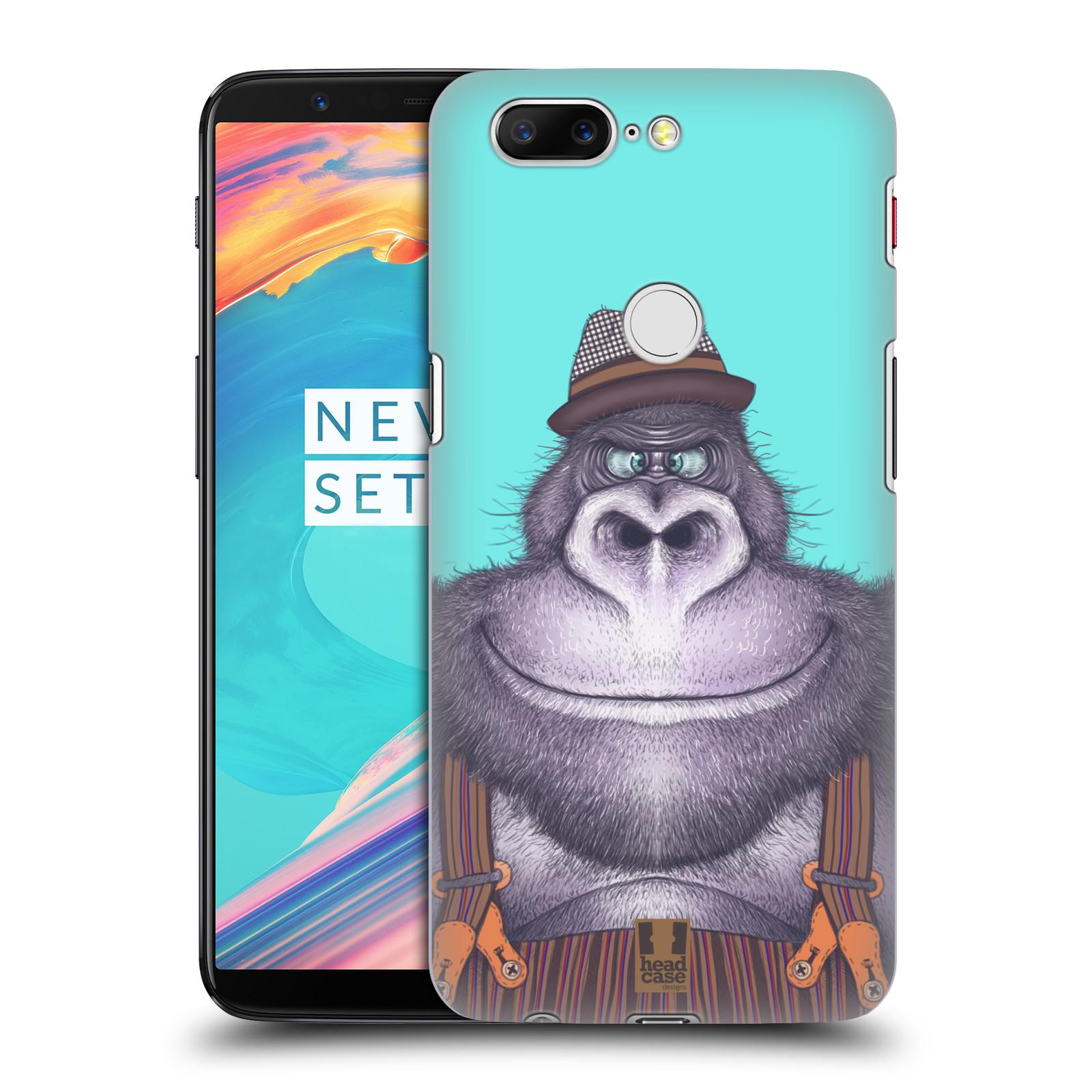 Plastové pouzdro na mobil OnePlus 5T - Head Case - ANIMPLA GORILÁK