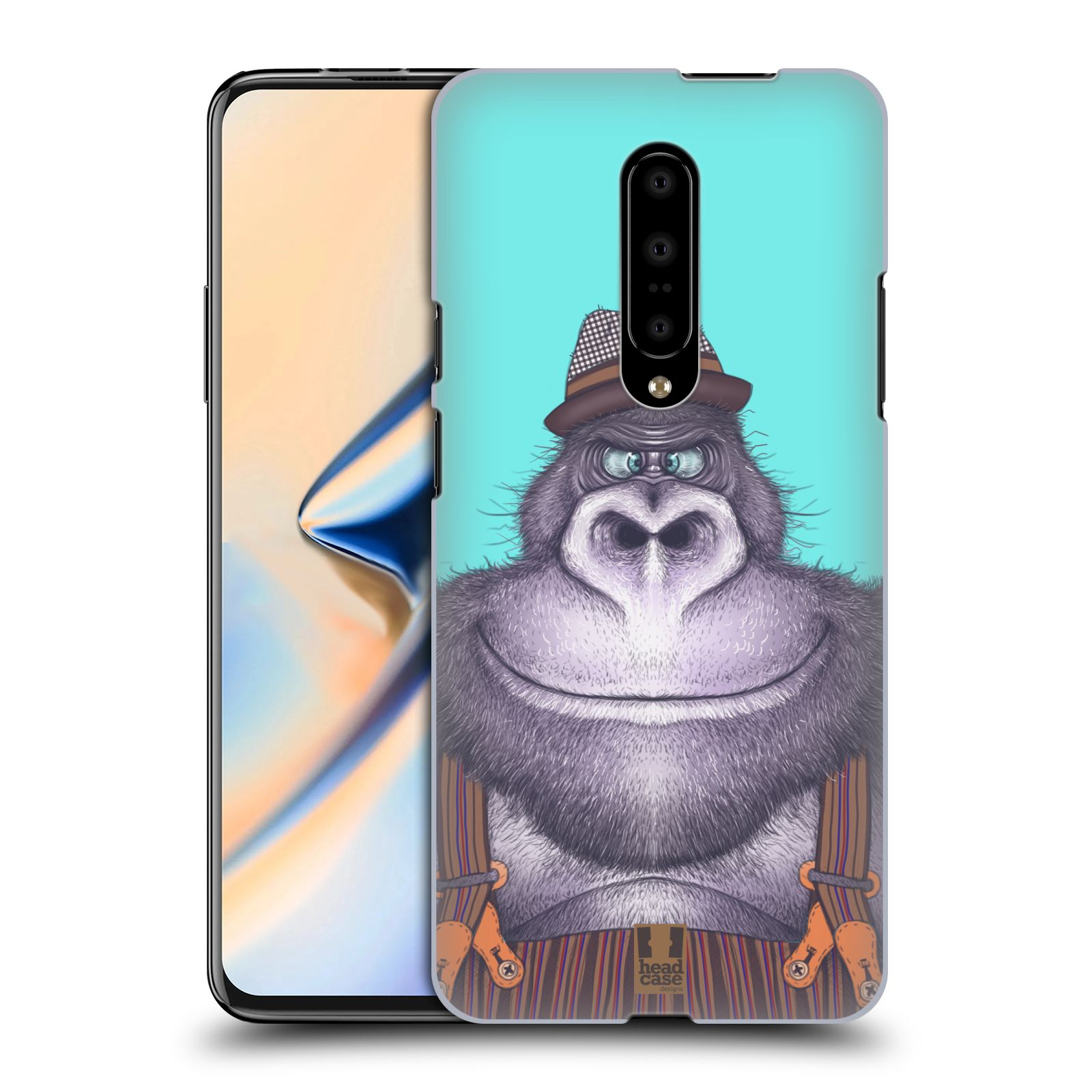 Plastové pouzdro na mobil OnePlus 7 - Head Case - ANIMPLA GORILÁK