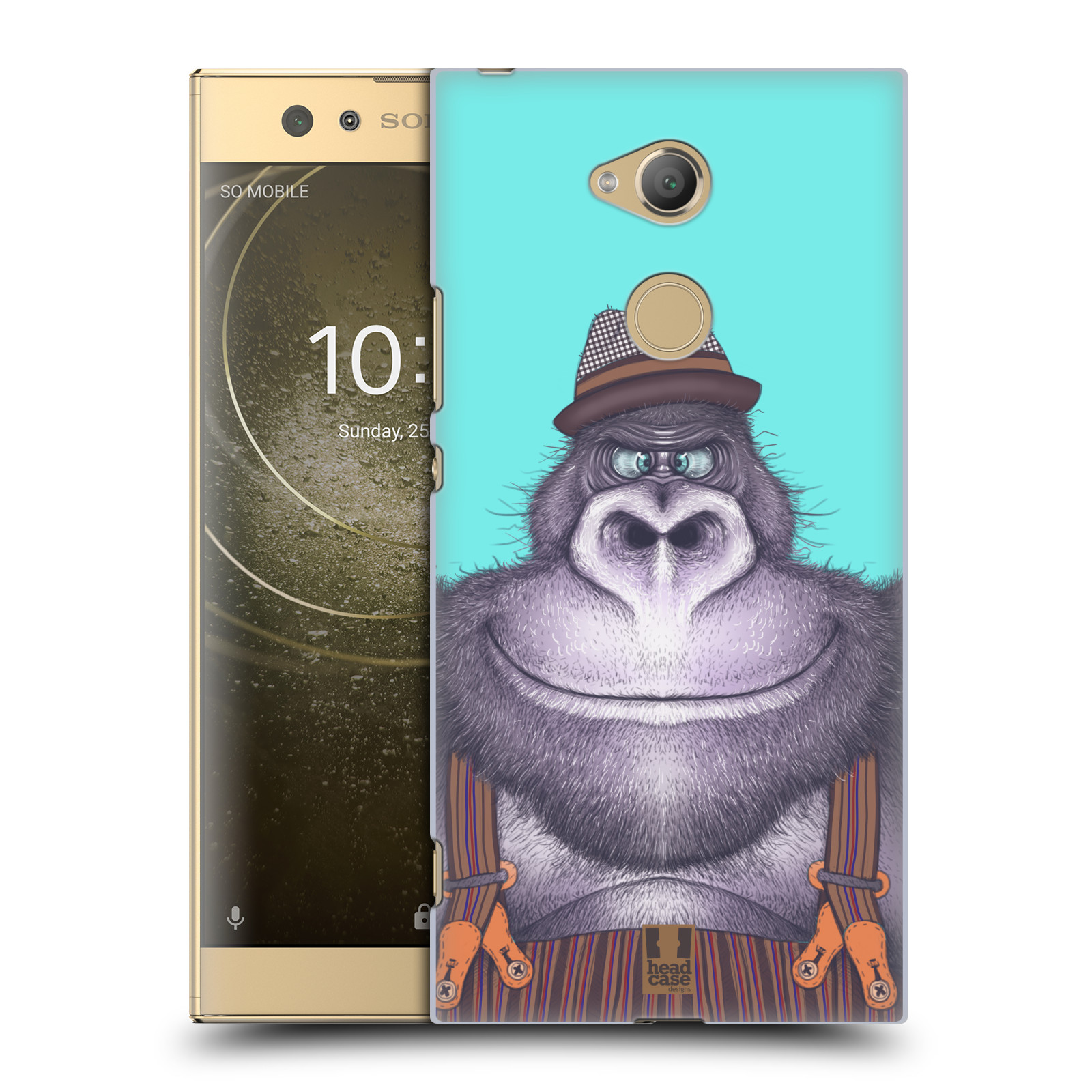 Plastové pouzdro na mobil Sony Xperia XA2 Ultra - Head Case - ANIMPLA GORILÁK