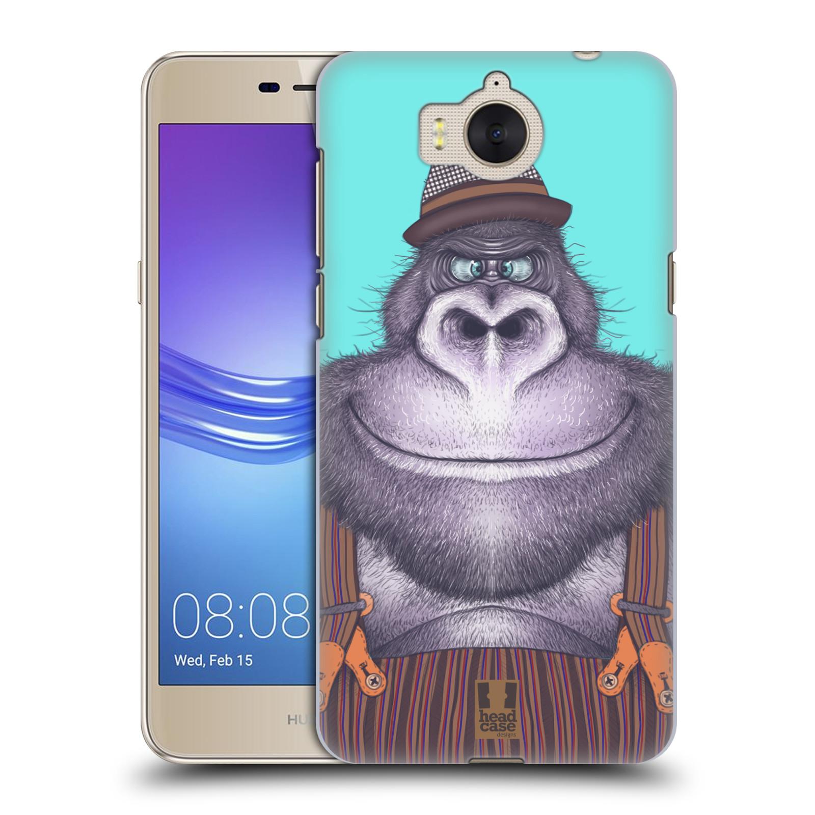 Plastové pouzdro na mobil Huawei Y6 2017 - Head Case - ANIMPLA GORILÁK