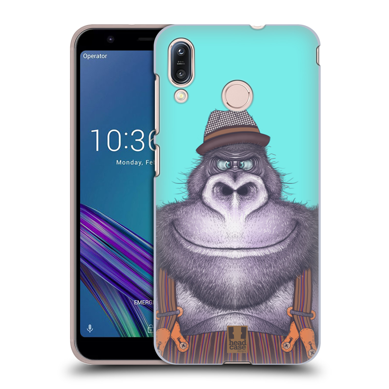 Plastové pouzdro na mobil Asus Zenfone Max M1 ZB555KL - Head Case - ANIMPLA GORILÁK