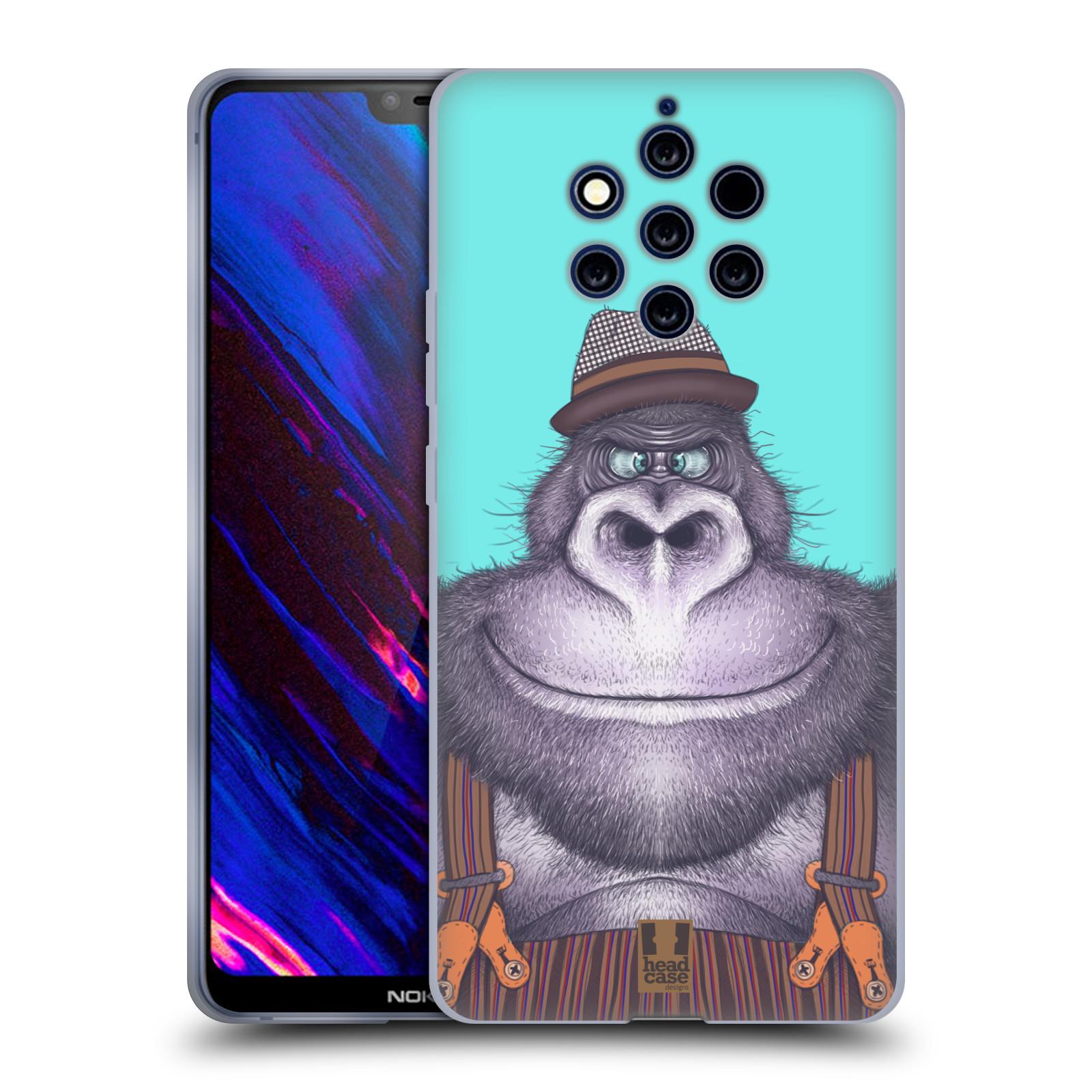 Silikonové pouzdro na mobil Nokia 9 PureView - Head Case - ANIMPLA GORILÁK