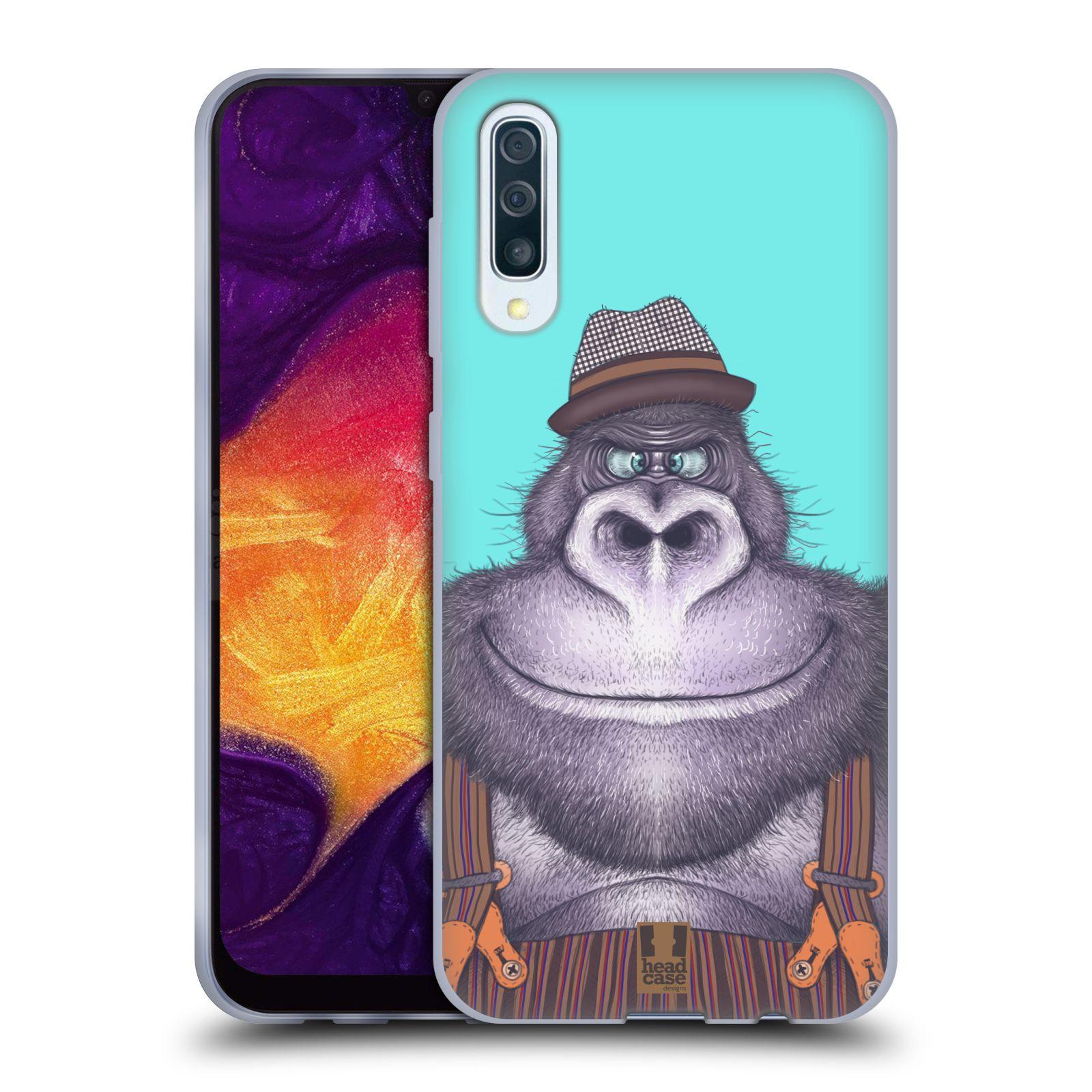 Silikonové pouzdro na mobil Samsung Galaxy A50 / A30s - Head Case - ANIMPLA GORILÁK