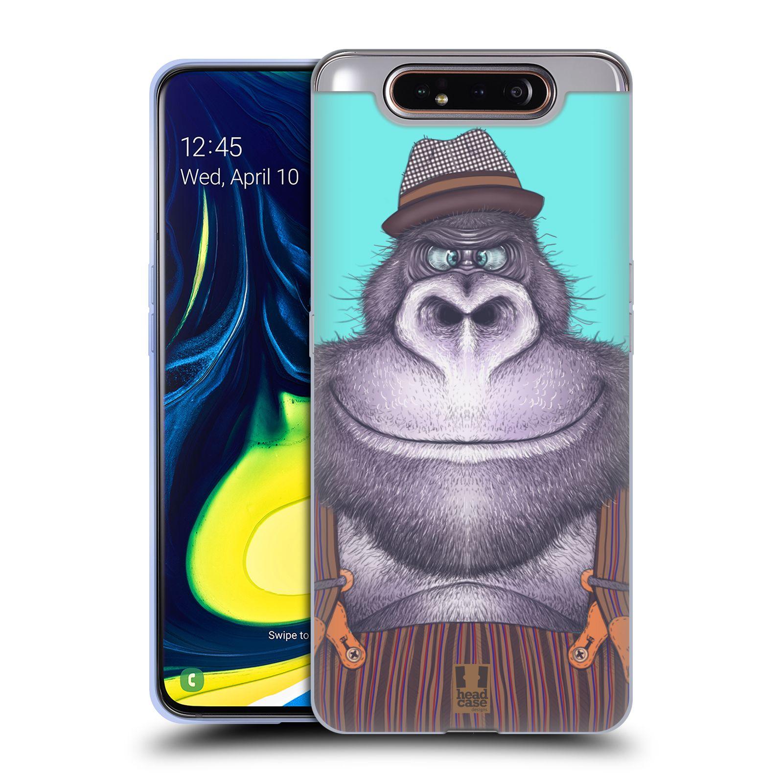 Silikonové pouzdro na mobil Samsung Galaxy A80 - Head Case - ANIMPLA GORILÁK