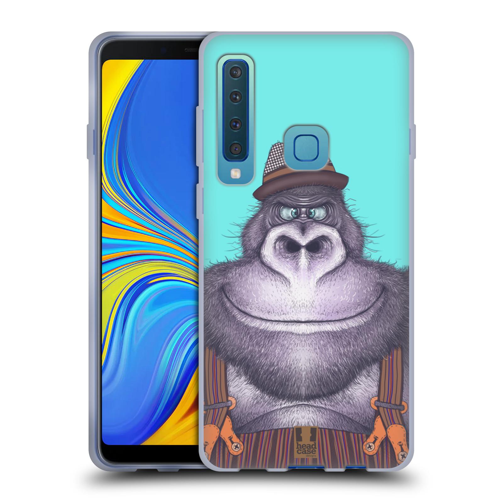 Silikonové pouzdro na mobil Samsung Galaxy A9 (2018) - Head Case - ANIMPLA GORILÁK