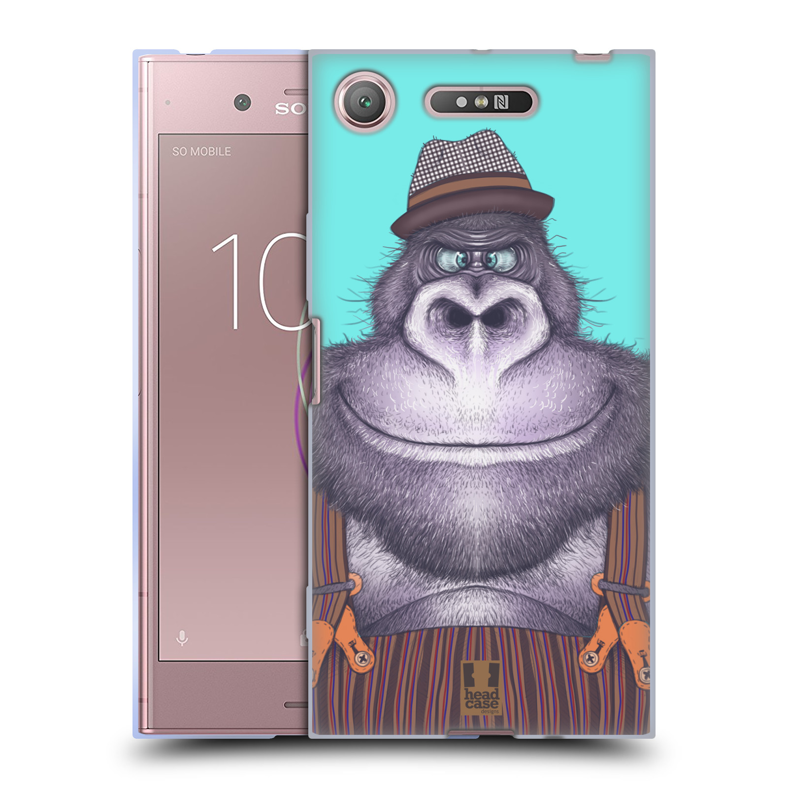 Silikonové pouzdro na mobil Sony Xperia XZ1 - Head Case - ANIMPLA GORILÁK