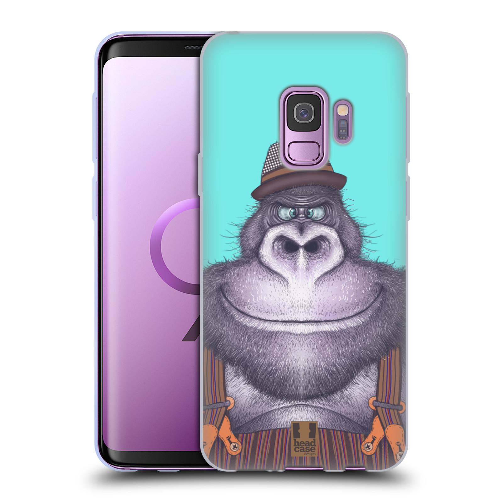 Silikonové pouzdro na mobil Samsung Galaxy S9 - Head Case - ANIMPLA GORILÁK