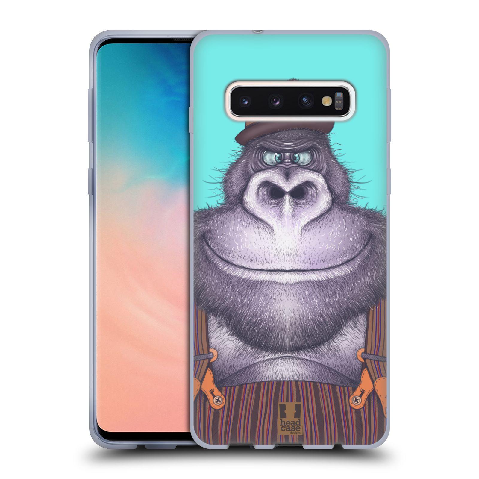 Silikonové pouzdro na mobil Samsung Galaxy S10 - Head Case - ANIMPLA GORILÁK