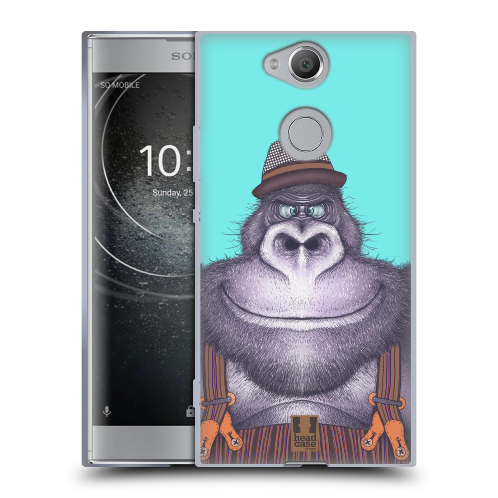 Silikonové pouzdro na mobil Sony Xperia XA2 - Head Case - ANIMPLA GORILÁK