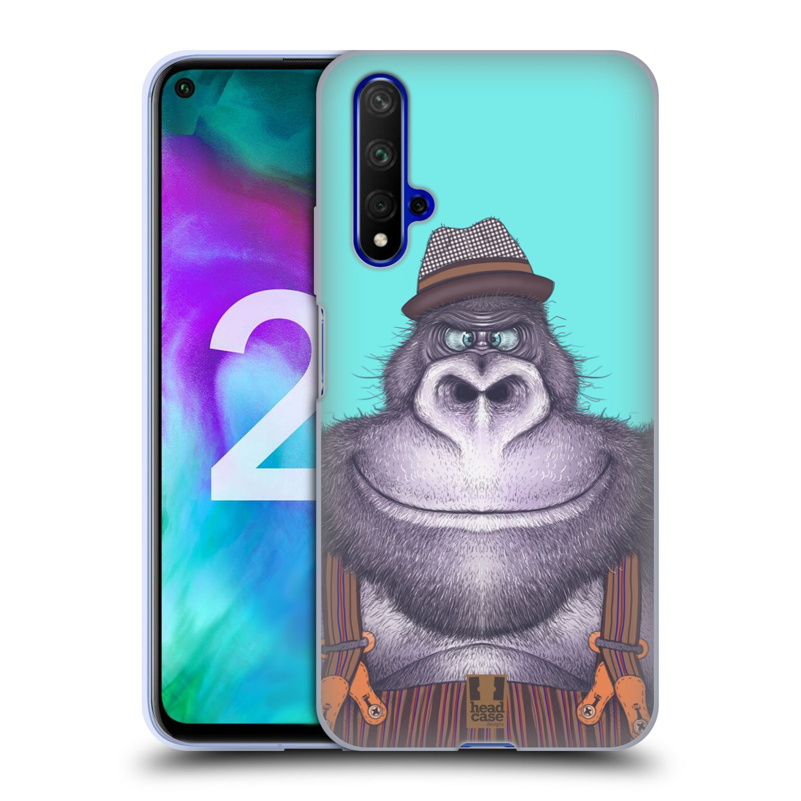 Silikonové pouzdro na mobil Honor 20 - Head Case - ANIMPLA GORILÁK