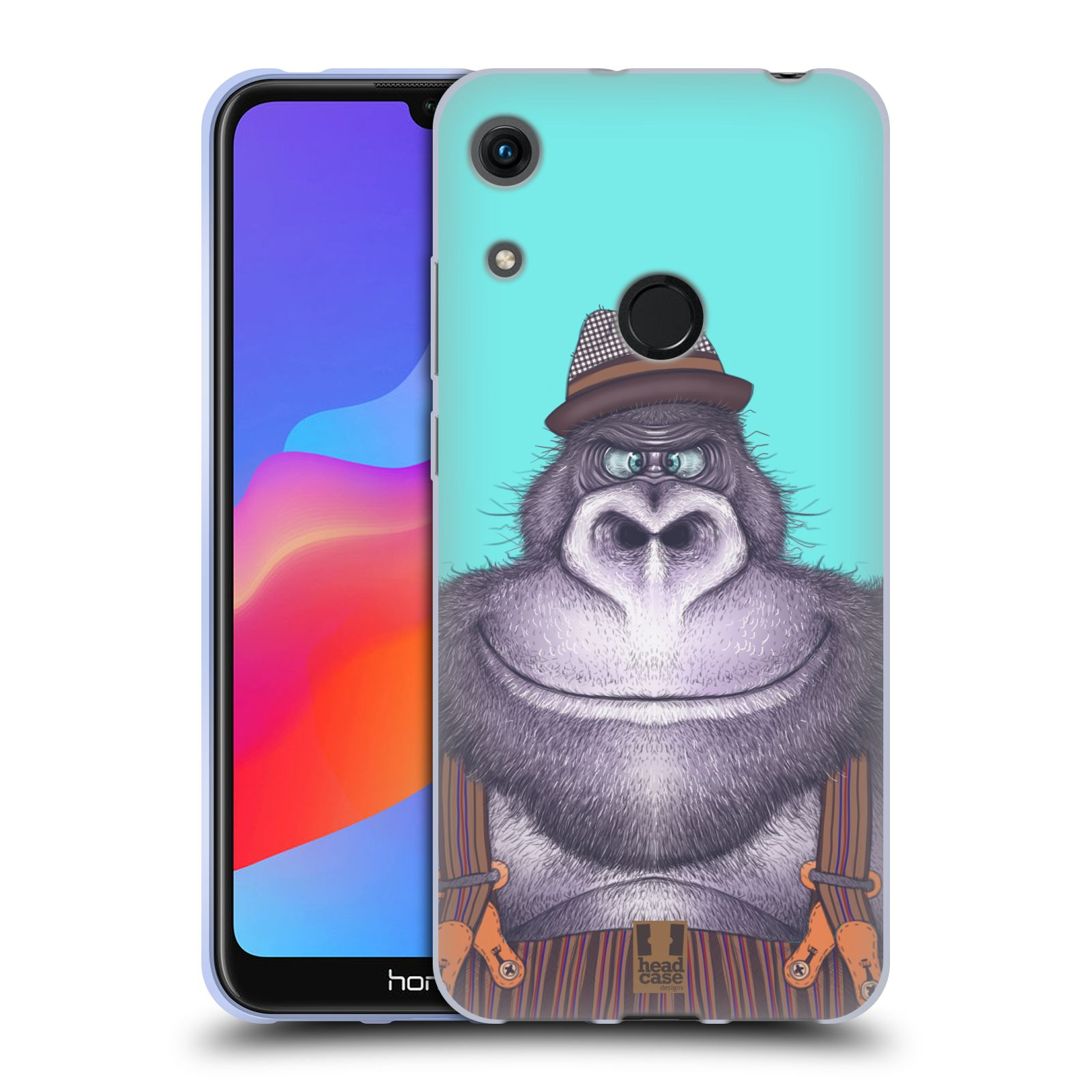 Silikonové pouzdro na mobil Honor 8A - Head Case - ANIMPLA GORILÁK