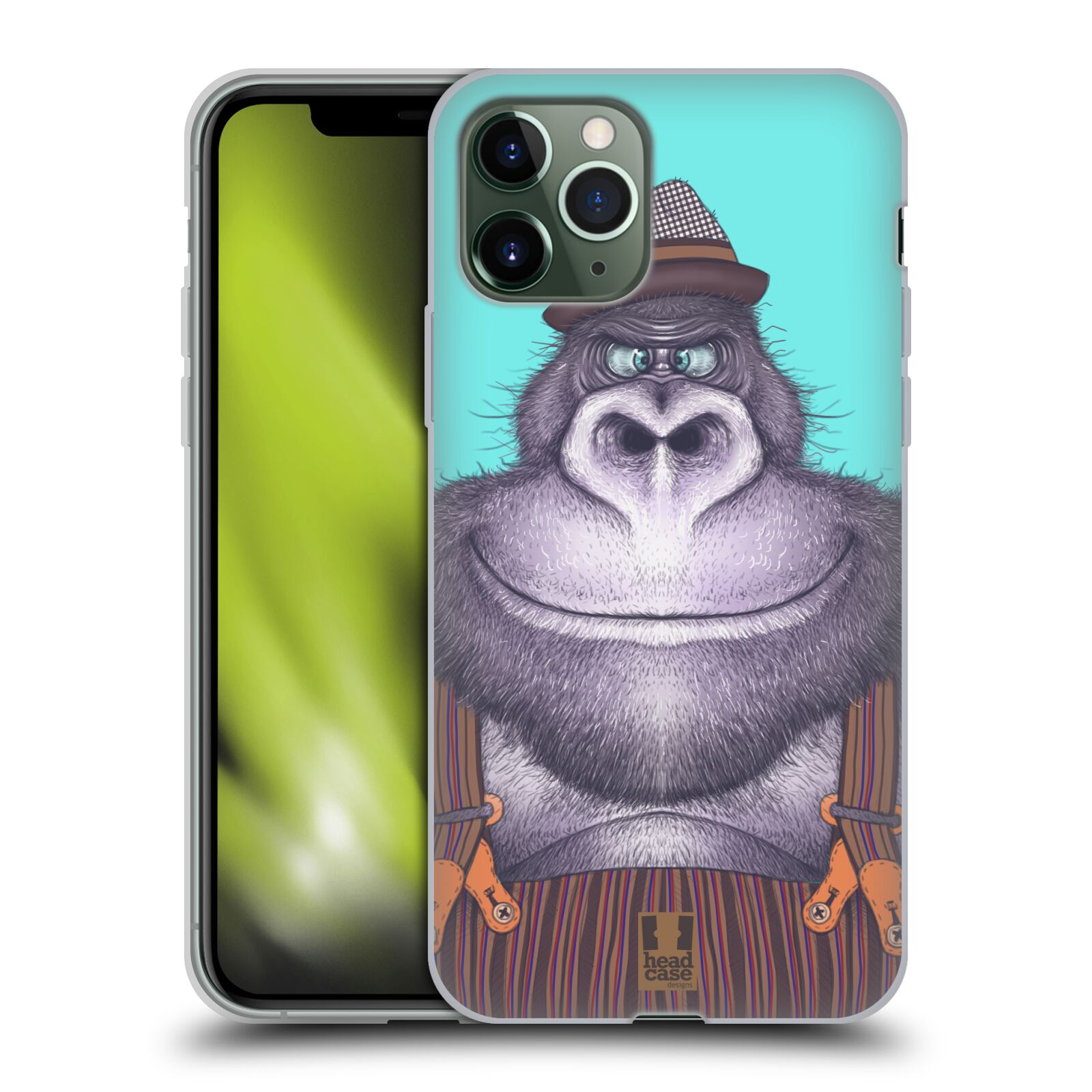 iphone 8 plus kryt original - Silikonové pouzdro na mobil Apple iPhone 11 Pro - Head Case - ANIMPLA GORILÁK