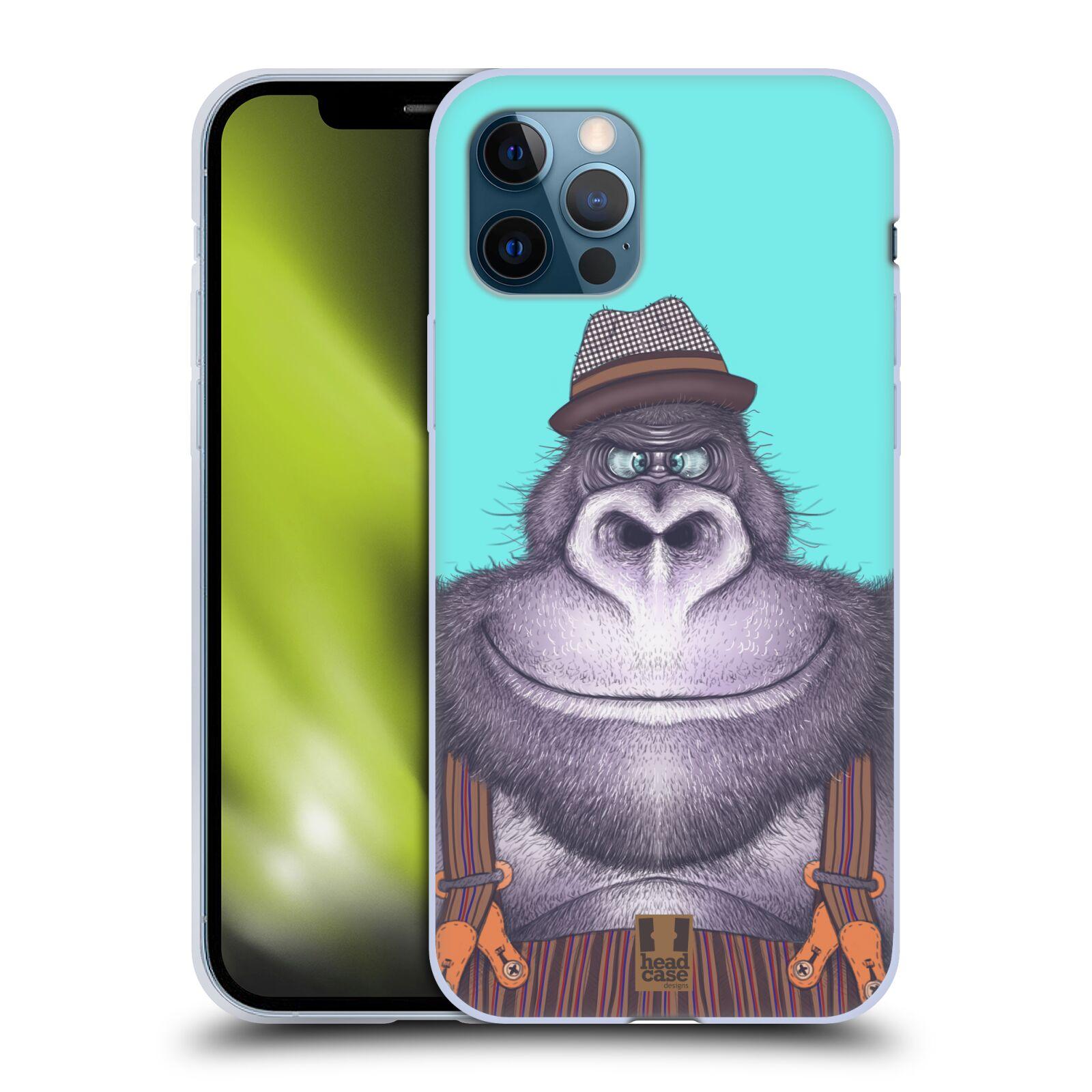 Silikonové pouzdro na mobil Apple iPhone 12 / 12 Pro - Head Case - ANIMPLA GORILÁK