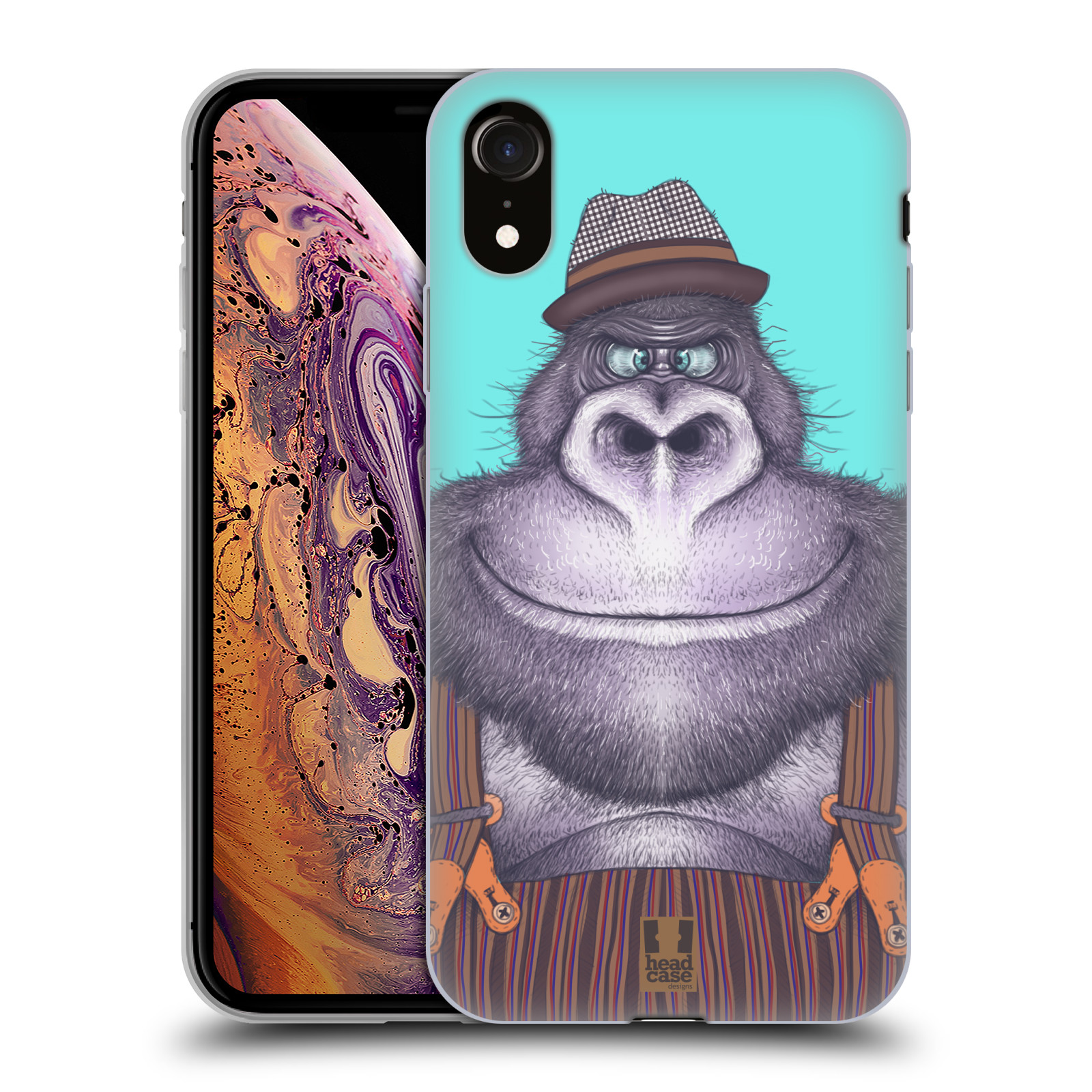 Silikonové pouzdro na mobil Apple iPhone XR - Head Case - ANIMPLA GORILÁK