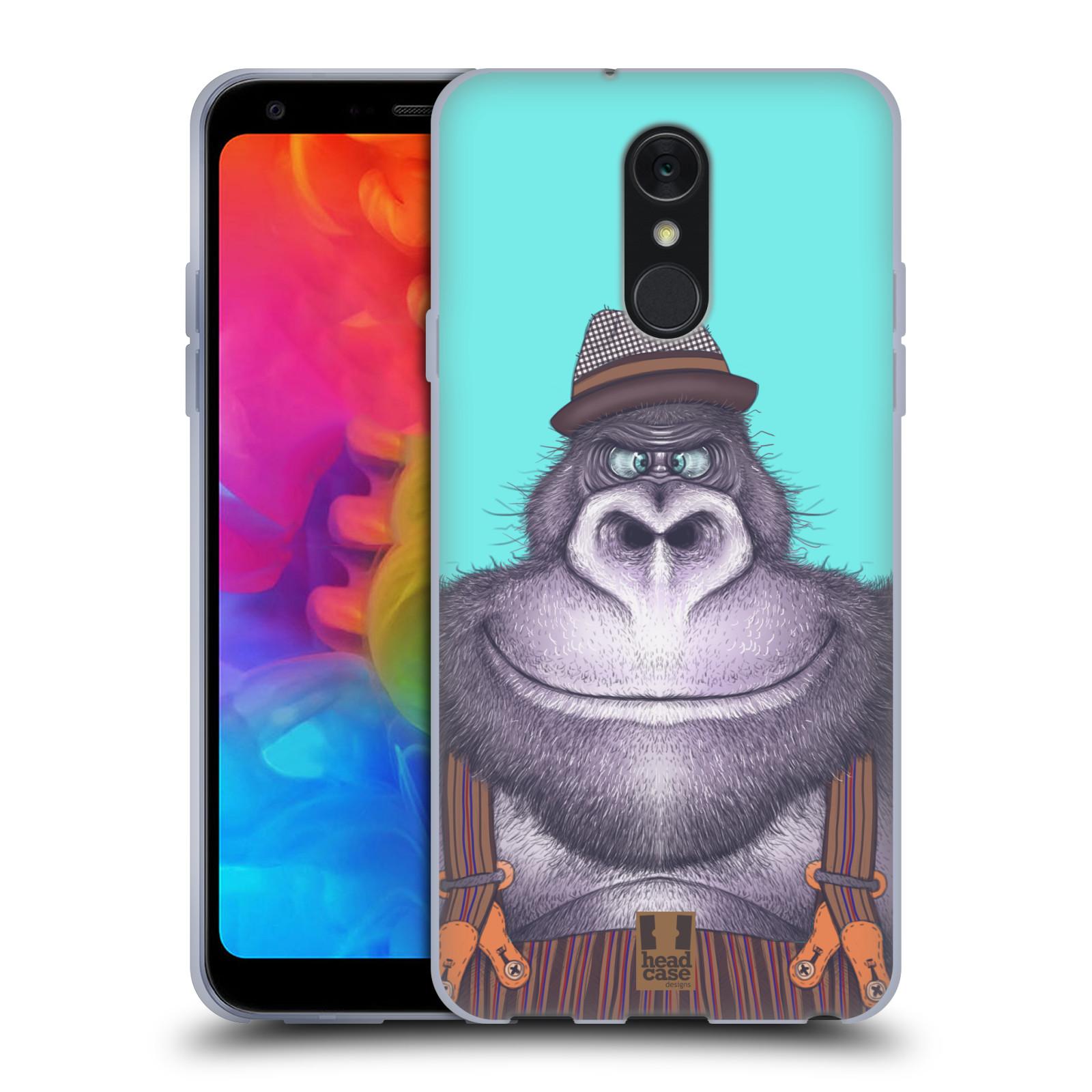 Silikonové pouzdro na mobil LG Q7 - Head Case - ANIMPLA GORILÁK