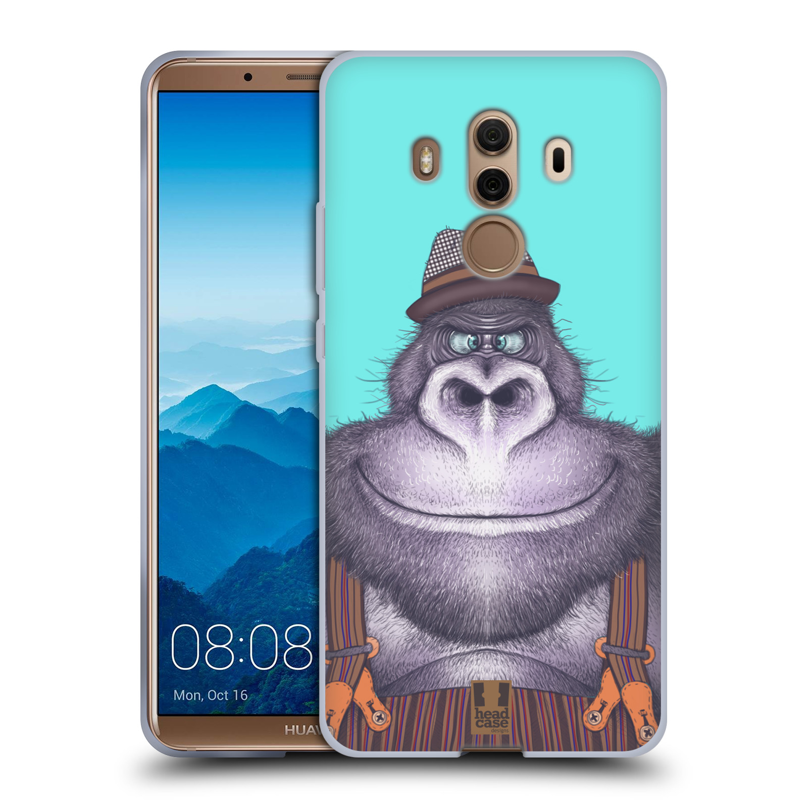 Silikonové pouzdro na mobil Huawei Mate 10 Pro - Head Case - ANIMPLA GORILÁK