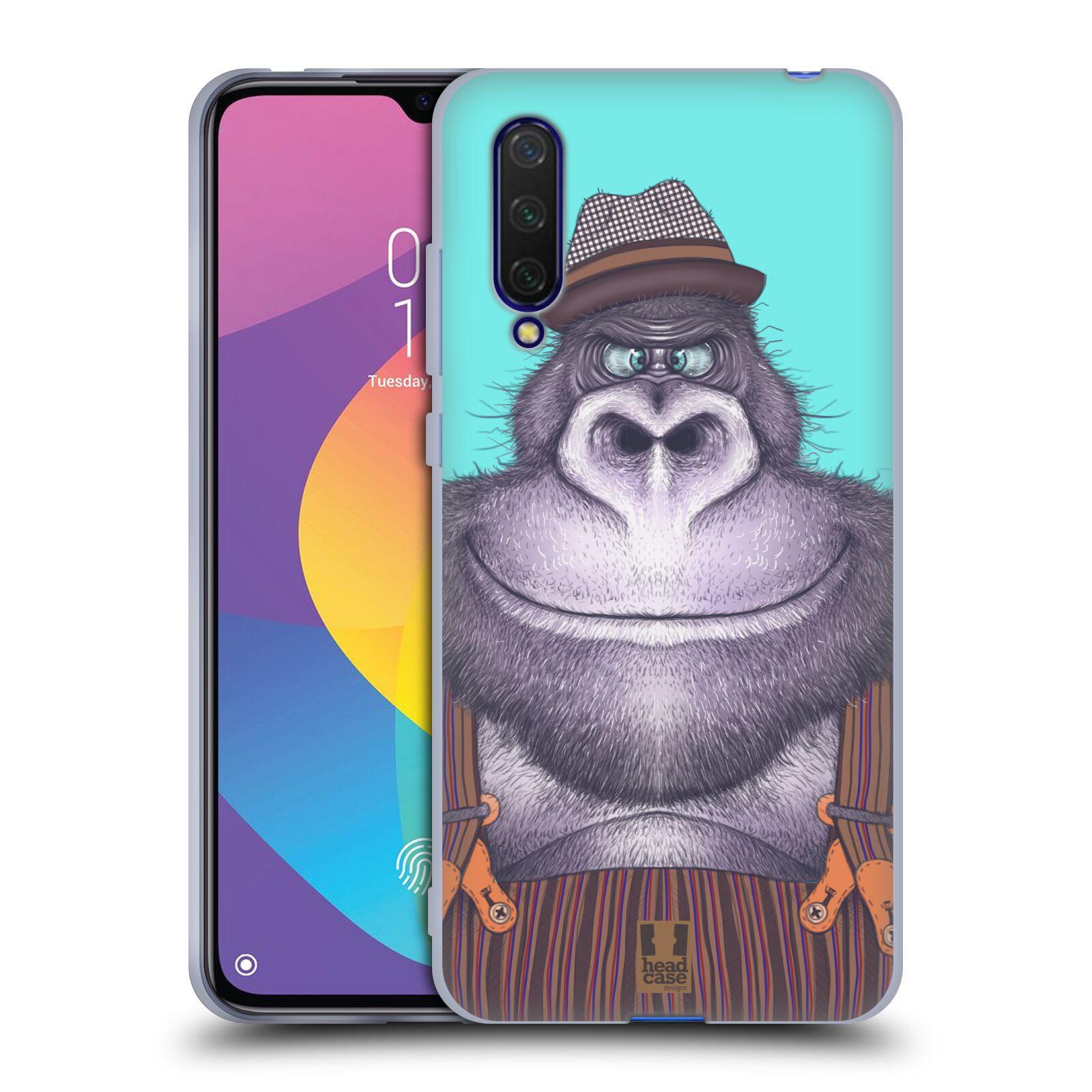 Silikonové pouzdro na mobil Xiaomi Mi 9 Lite - Head Case - ANIMPLA GORILÁK