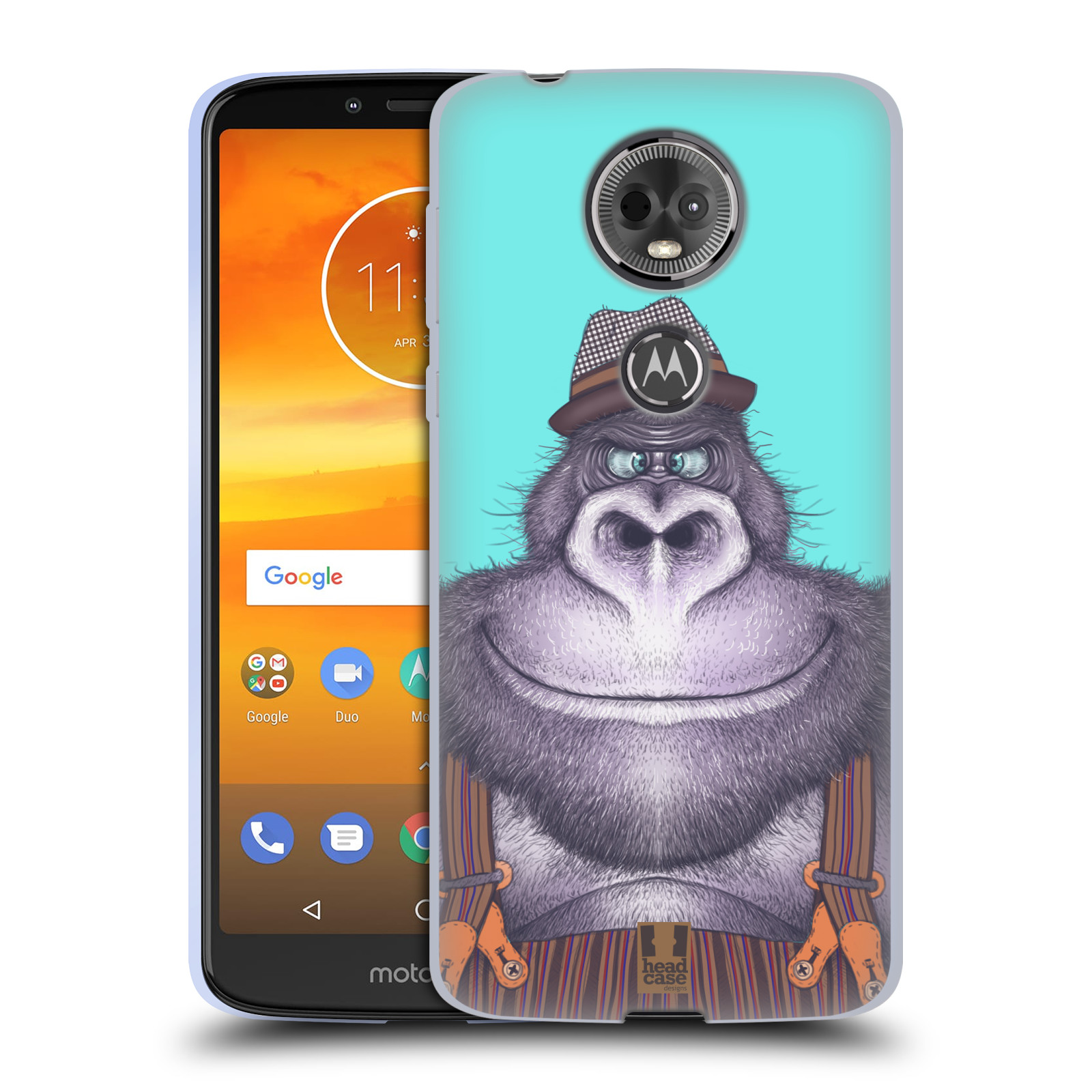 Silikonové pouzdro na mobil Motorola Moto E5 Plus - Head Case - ANIMPLA GORILÁK
