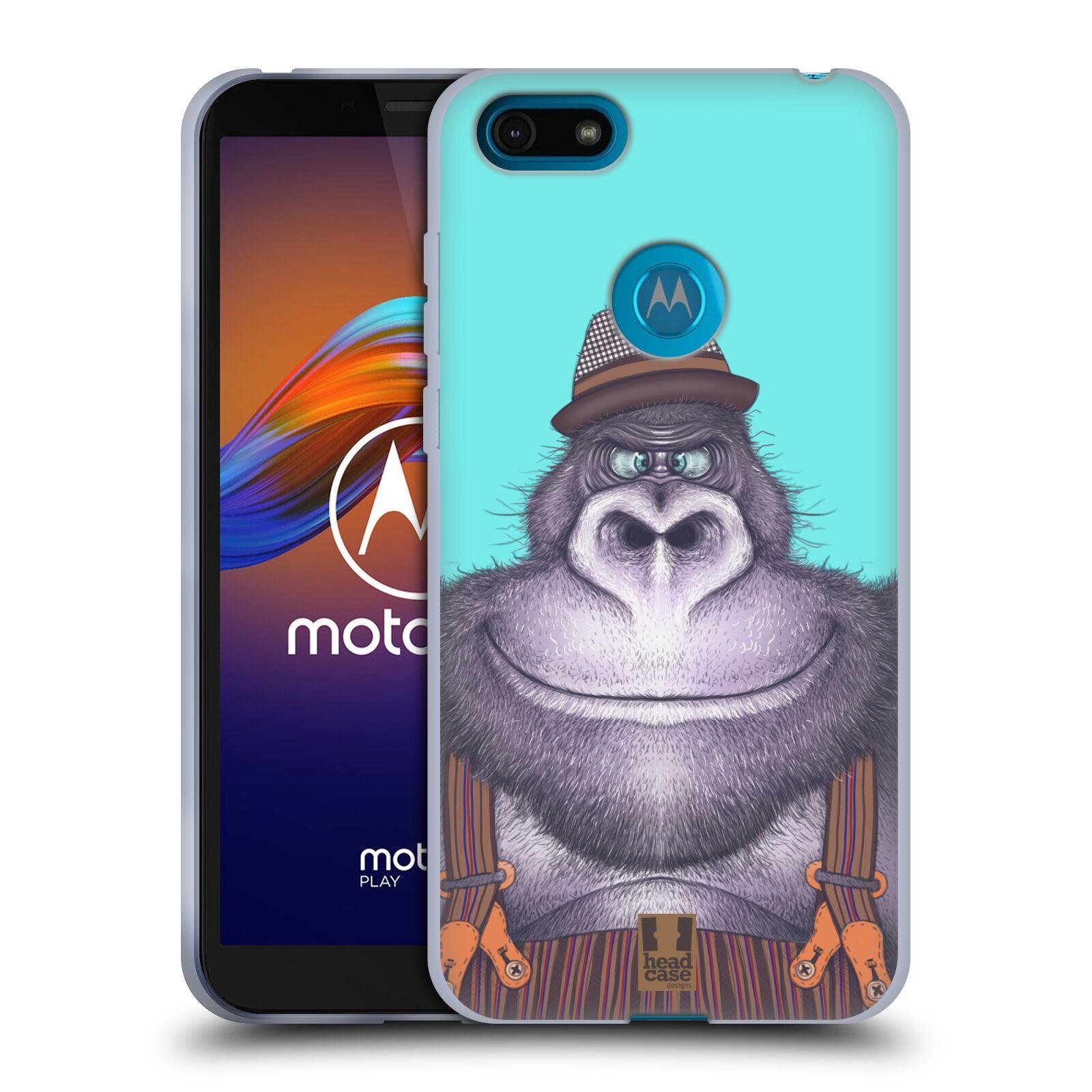 Silikonové pouzdro na mobil Motorola Moto E6 Play - Head Case - ANIMPLA GORILÁK