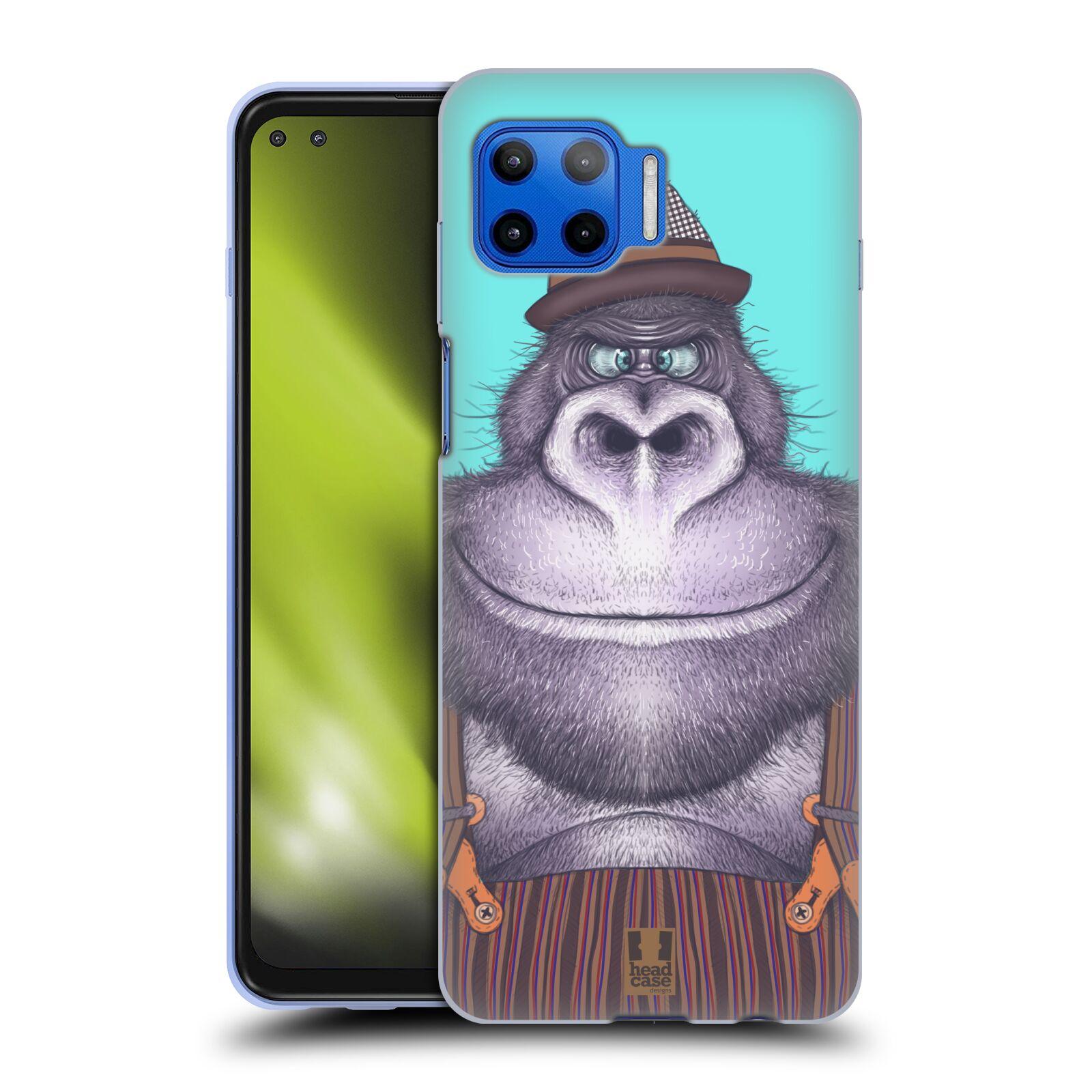 Silikonové pouzdro na mobil Motorola Moto G 5G Plus - Head Case - ANIMPLA GORILÁK