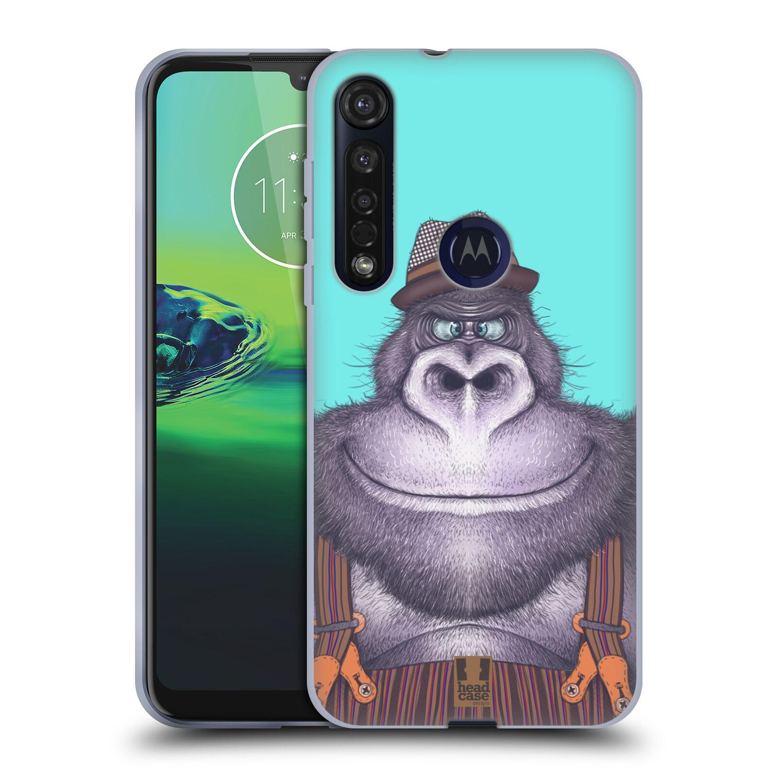 Silikonové pouzdro na mobil Motorola Moto G8 Plus - Head Case - ANIMPLA GORILÁK