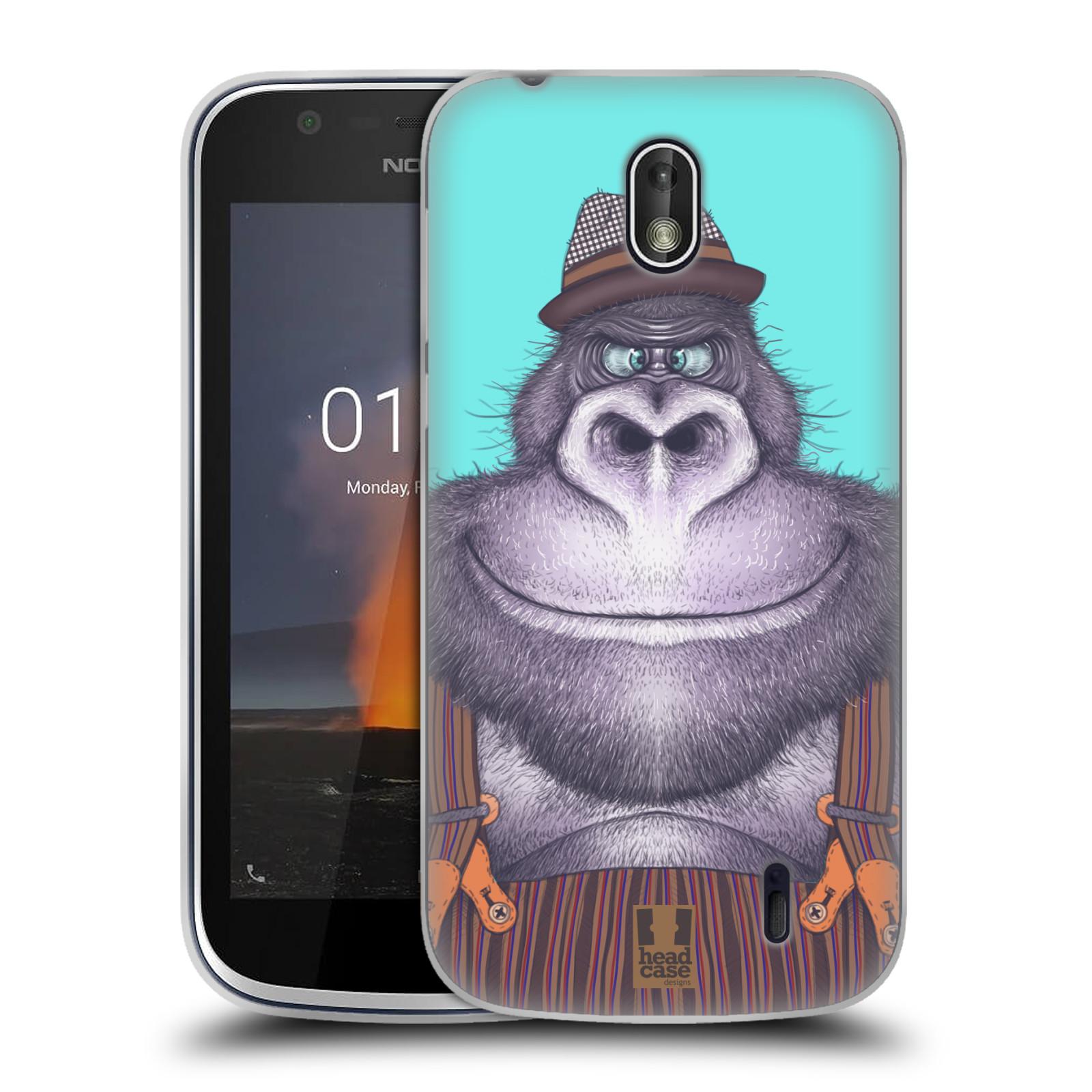 Silikonové pouzdro na mobil Nokia 1 - Head Case - ANIMPLA GORILÁK
