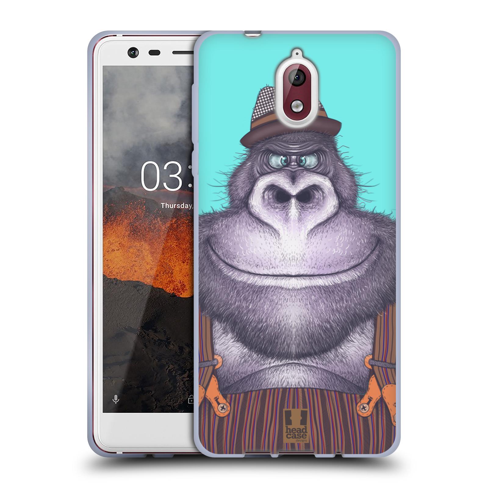 Silikonové pouzdro na mobil Nokia 3.1 - Head Case - ANIMPLA GORILÁK