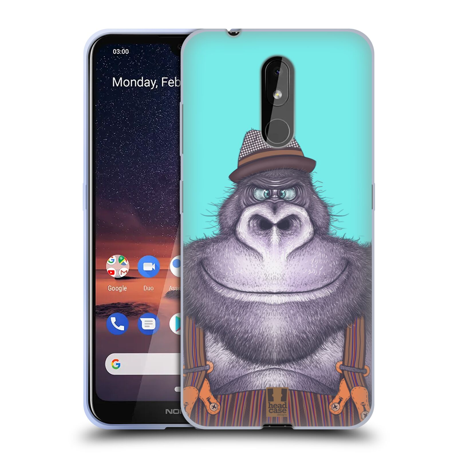 Silikonové pouzdro na mobil Nokia 3.2 - Head Case - ANIMPLA GORILÁK