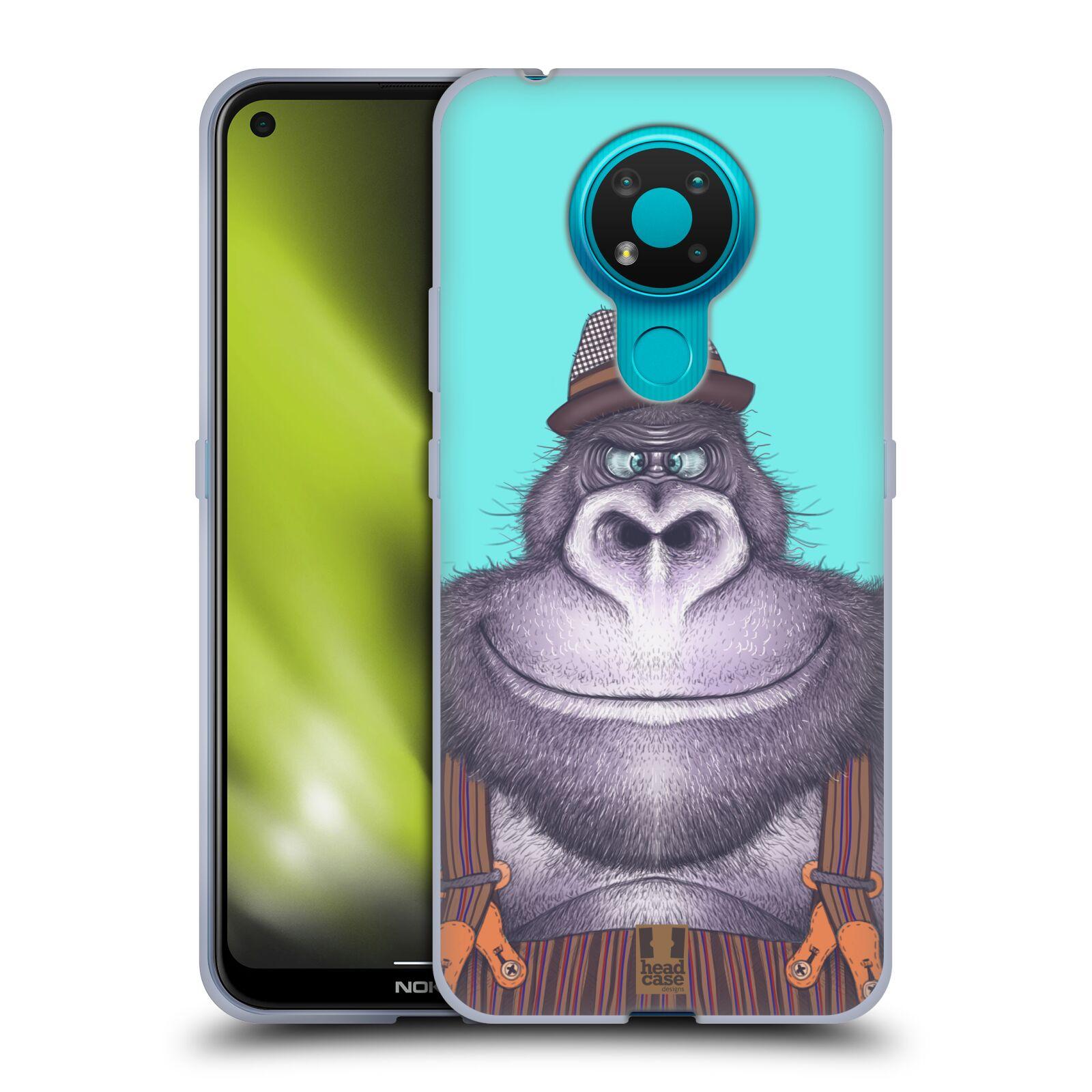 Silikonové pouzdro na mobil Nokia 3.4 - Head Case - ANIMPLA GORILÁK