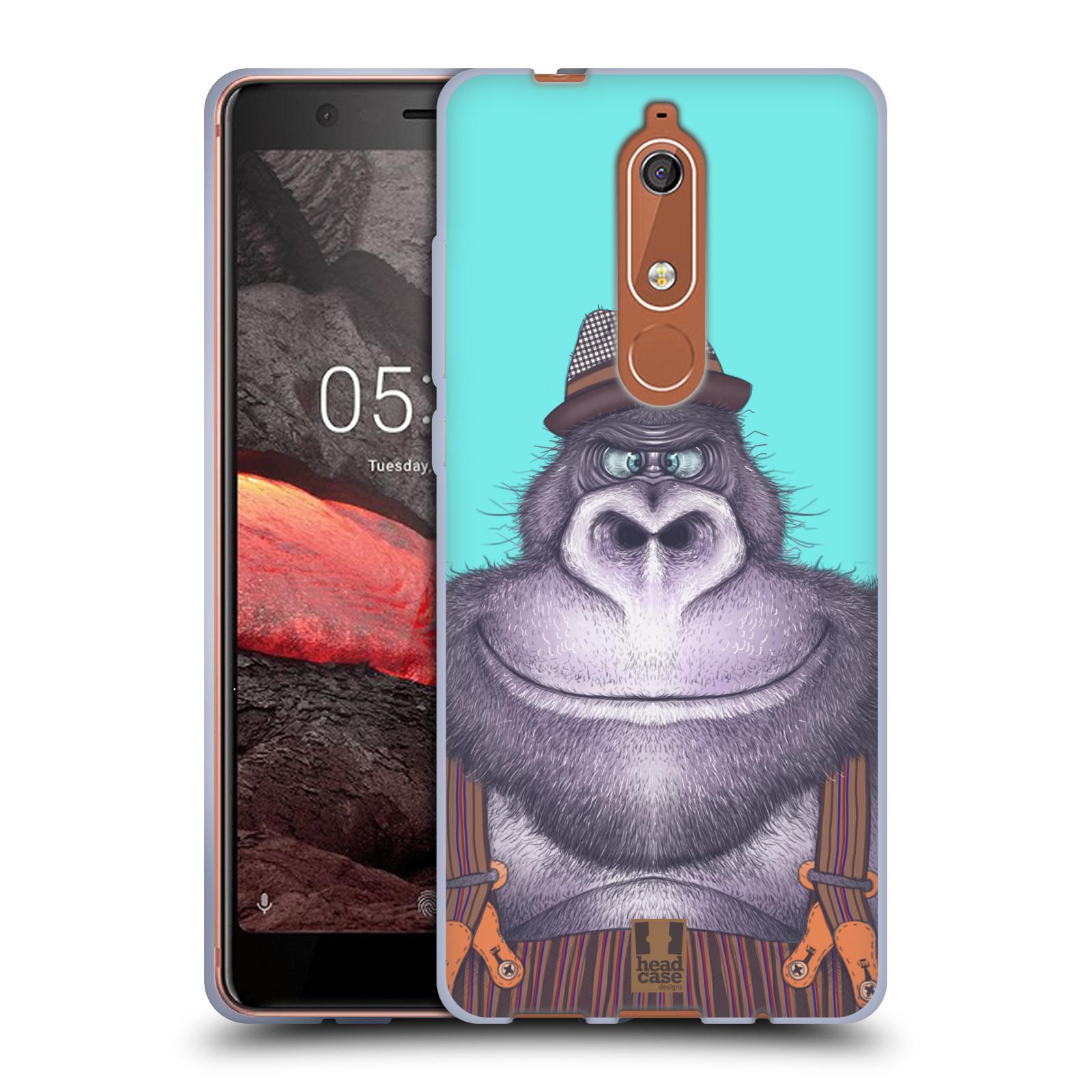 Silikonové pouzdro na mobil Nokia 5.1 - Head Case - ANIMPLA GORILÁK