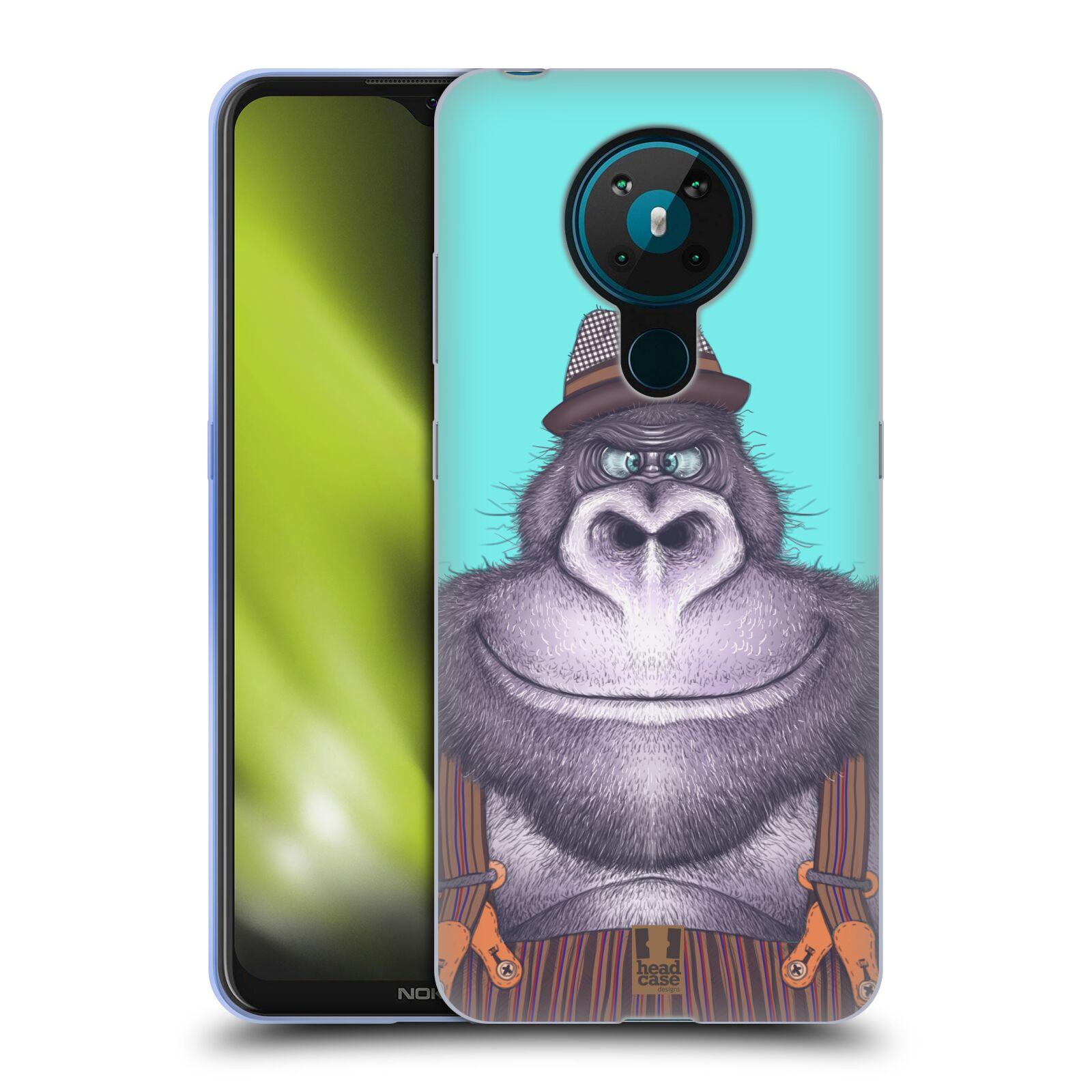 Silikonové pouzdro na mobil Nokia 5.3 - Head Case - ANIMPLA GORILÁK