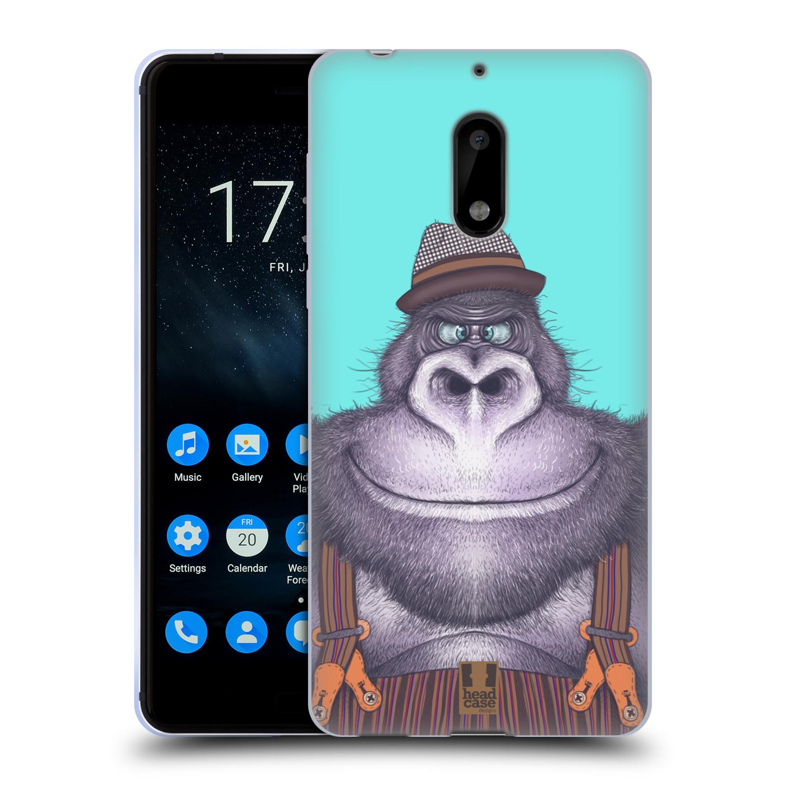 Silikonové pouzdro na mobil Nokia 6 - Head Case - ANIMPLA GORILÁK