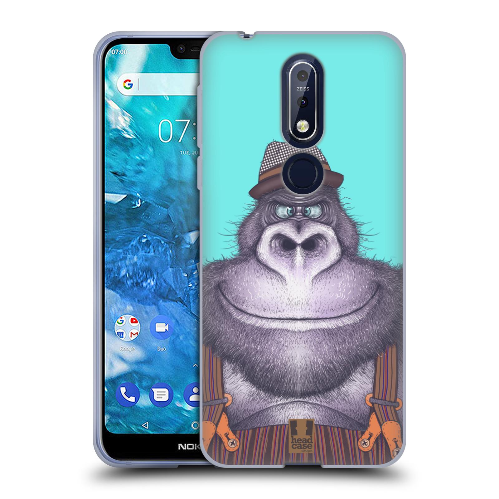 Silikonové pouzdro na mobil Nokia 7.1 - Head Case - ANIMPLA GORILÁK