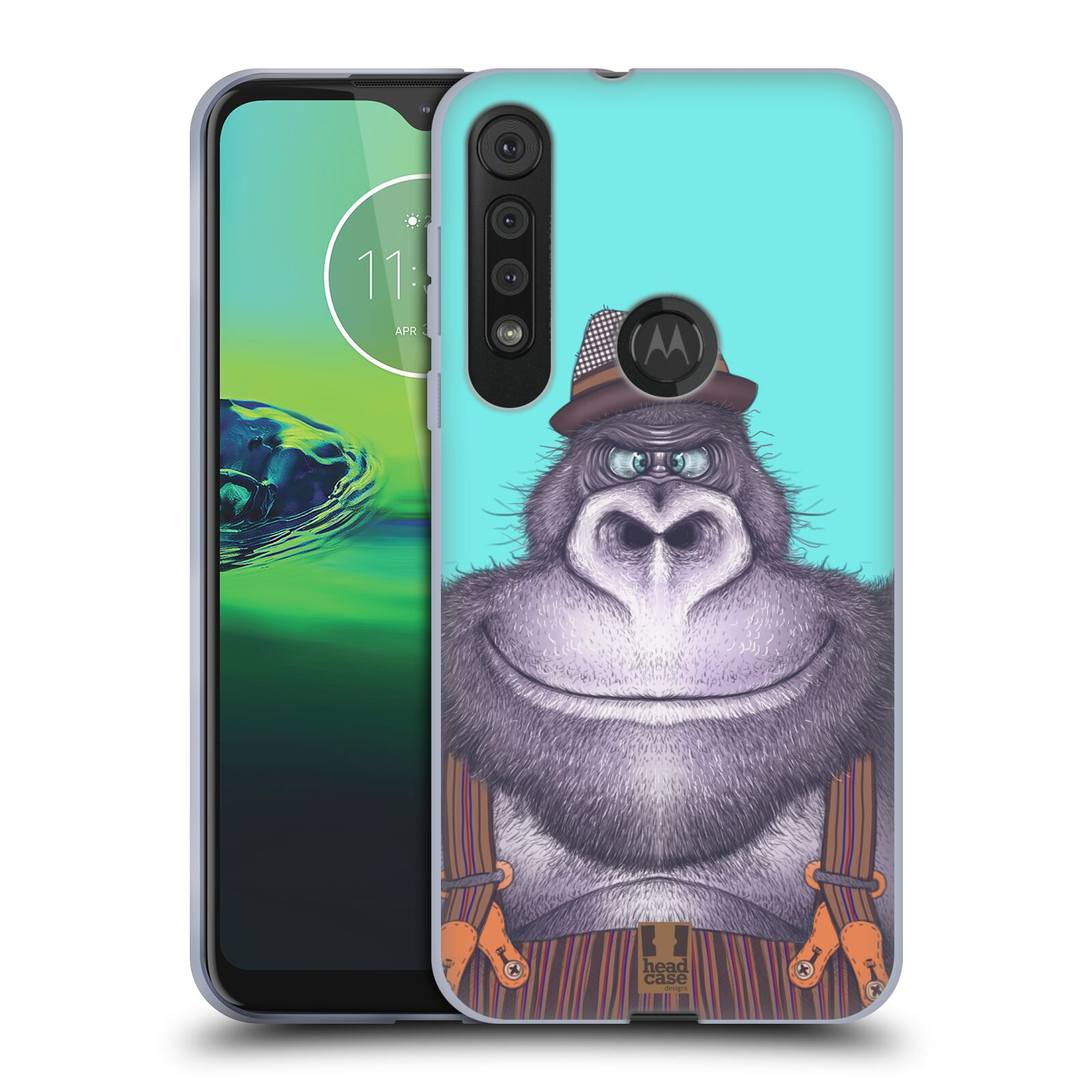 Silikonové pouzdro na mobil Motorola One Macro - Head Case - ANIMPLA GORILÁK