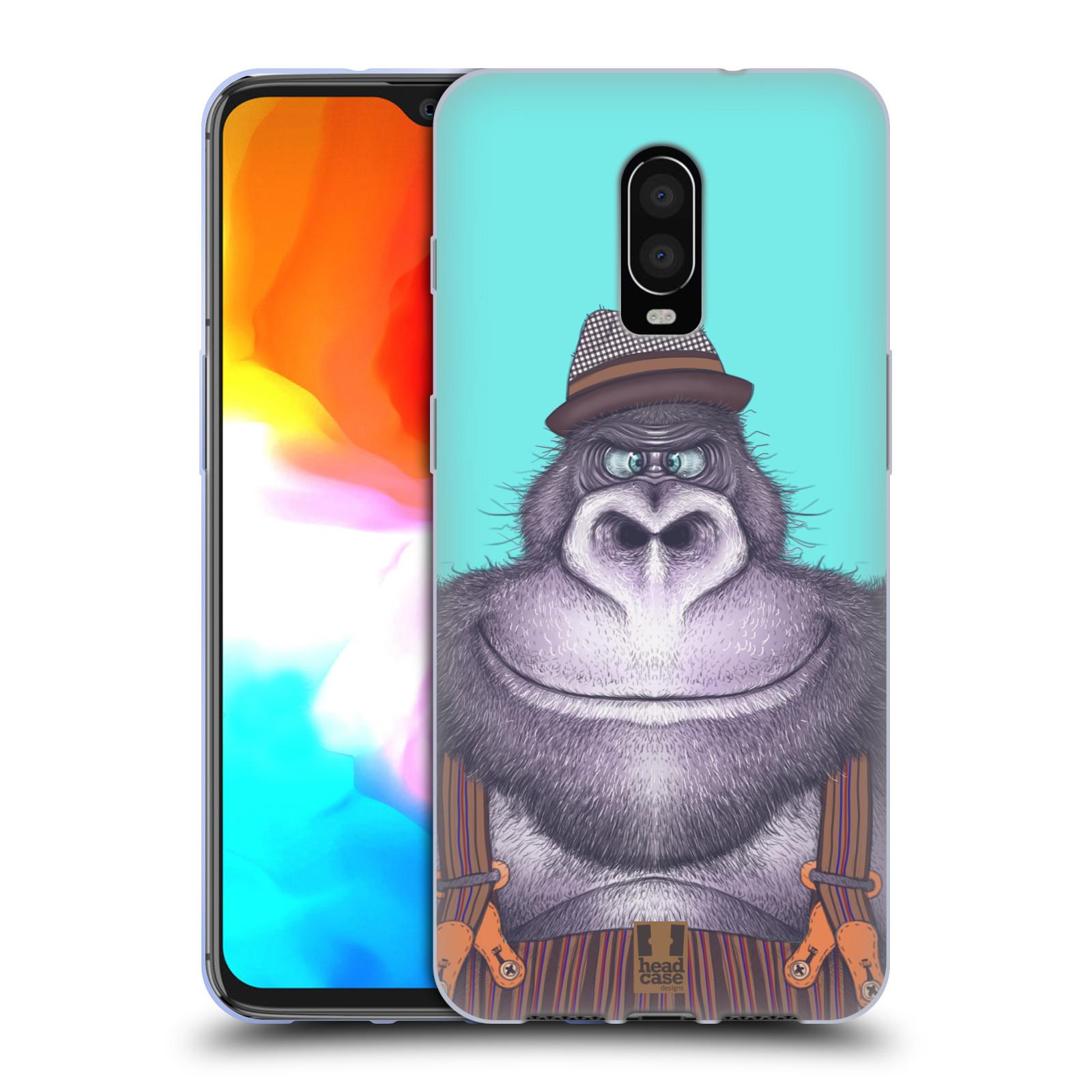 Silikonové pouzdro na mobil OnePlus 6T - Head Case - ANIMPLA GORILÁK