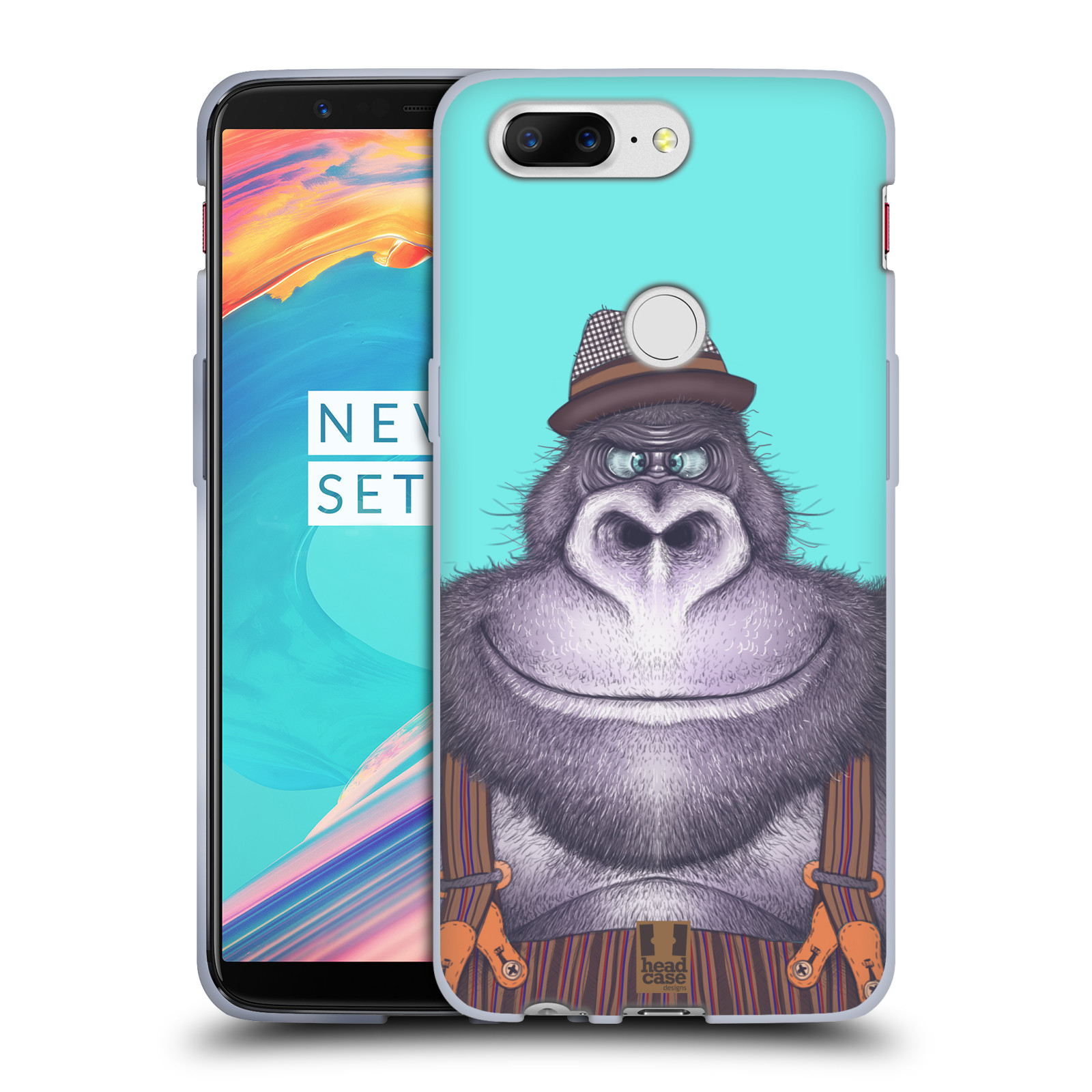 Silikonové pouzdro na mobil OnePlus 5T - Head Case - ANIMPLA GORILÁK