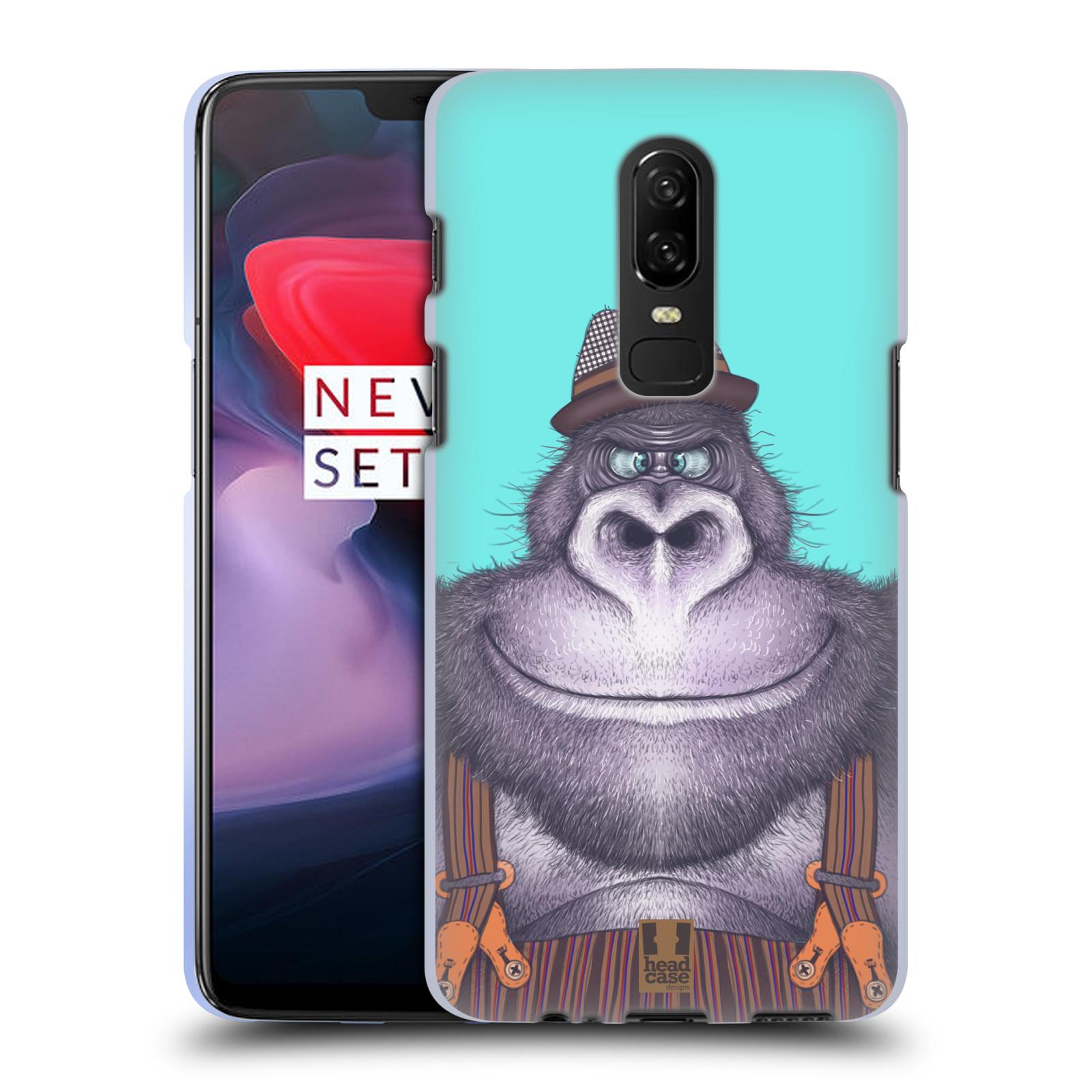Silikonové pouzdro na mobil OnePlus 6 - Head Case - ANIMPLA GORILÁK
