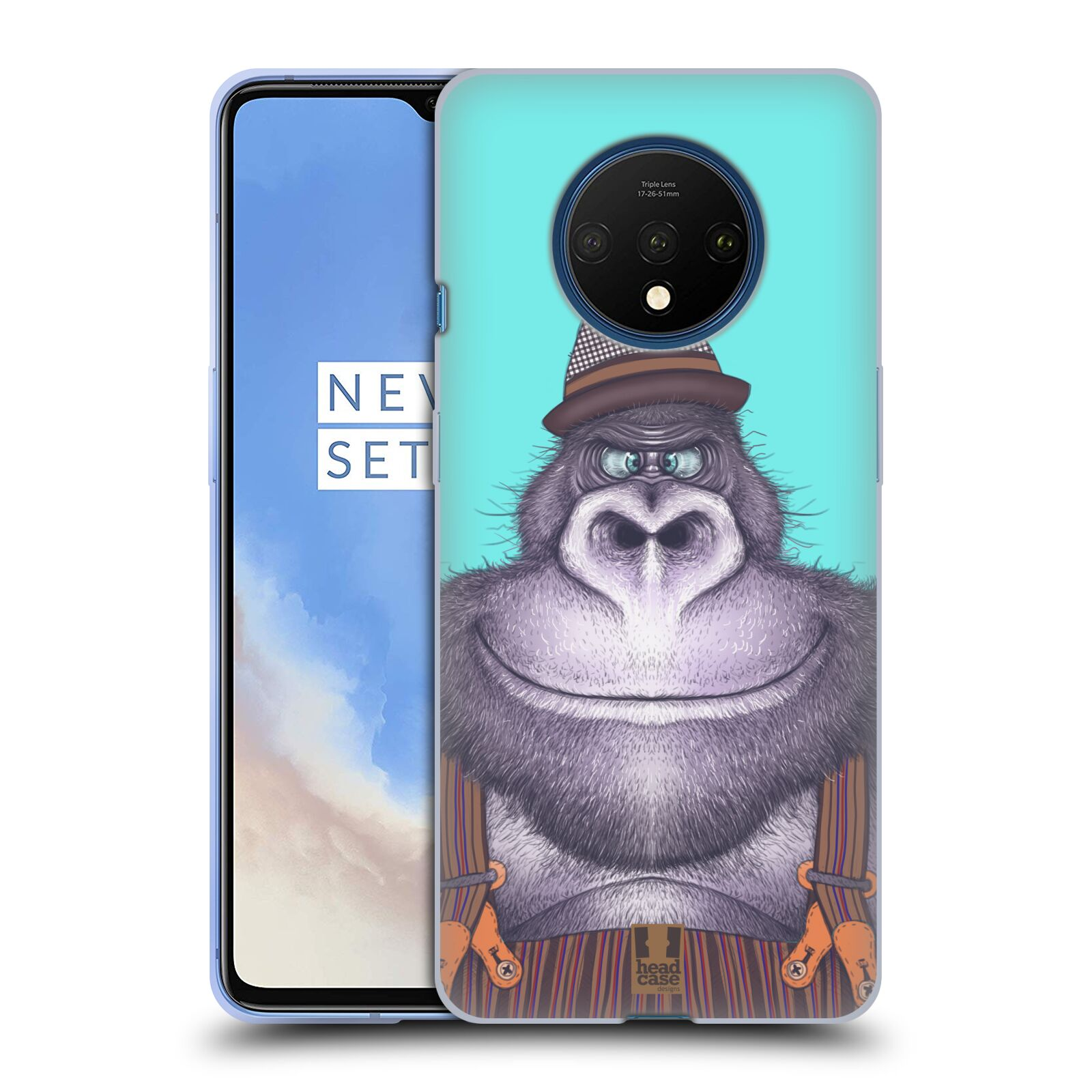 Silikonové pouzdro na mobil OnePlus 7T - Head Case - ANIMPLA GORILÁK