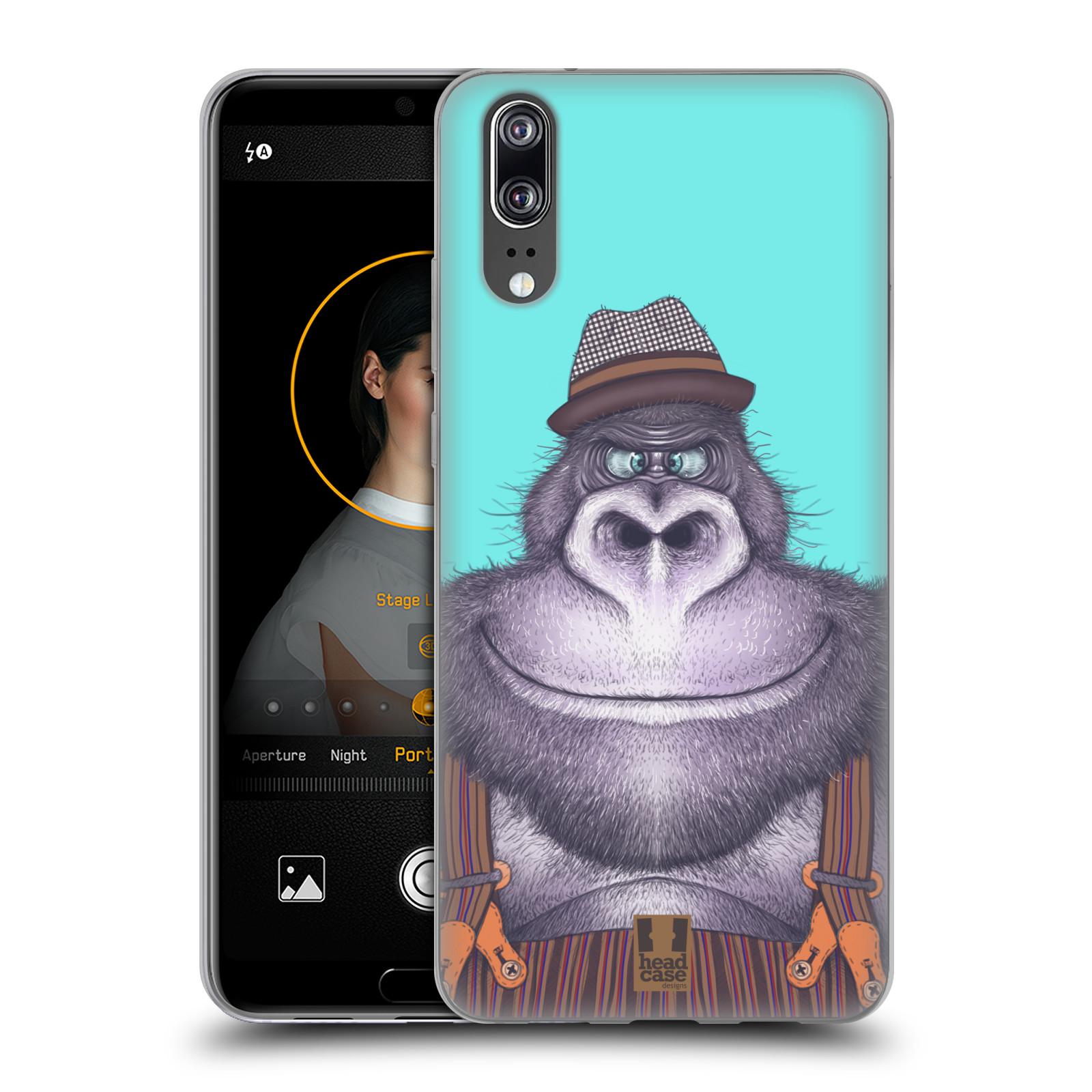 Silikonové pouzdro na mobil Huawei P20 - Head Case - ANIMPLA GORILÁK