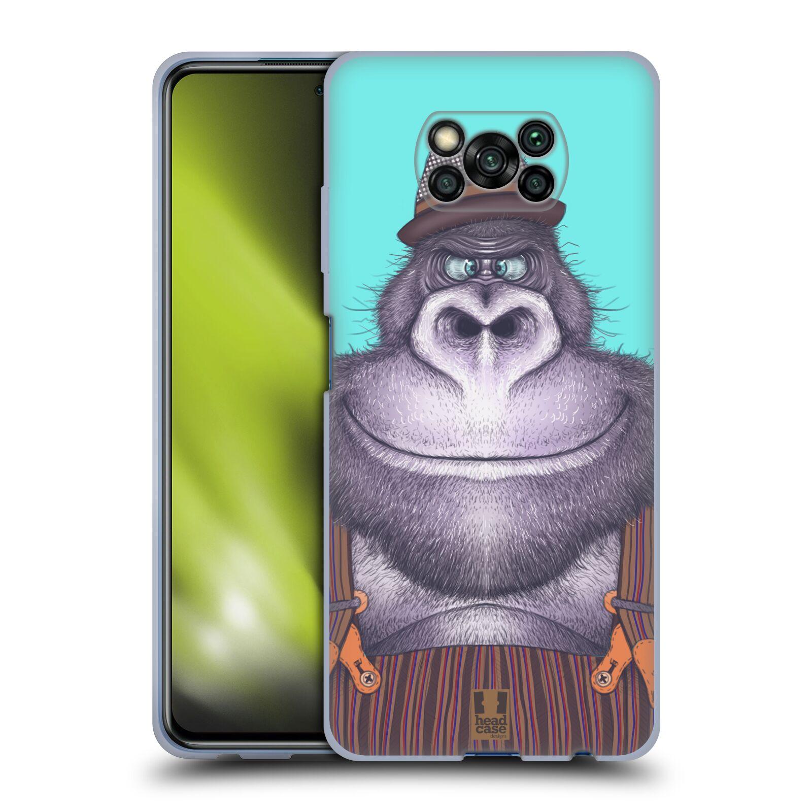 Silikonové pouzdro na mobil Xiaomi Poco X3 NFC - Head Case - ANIMPLA GORILÁK