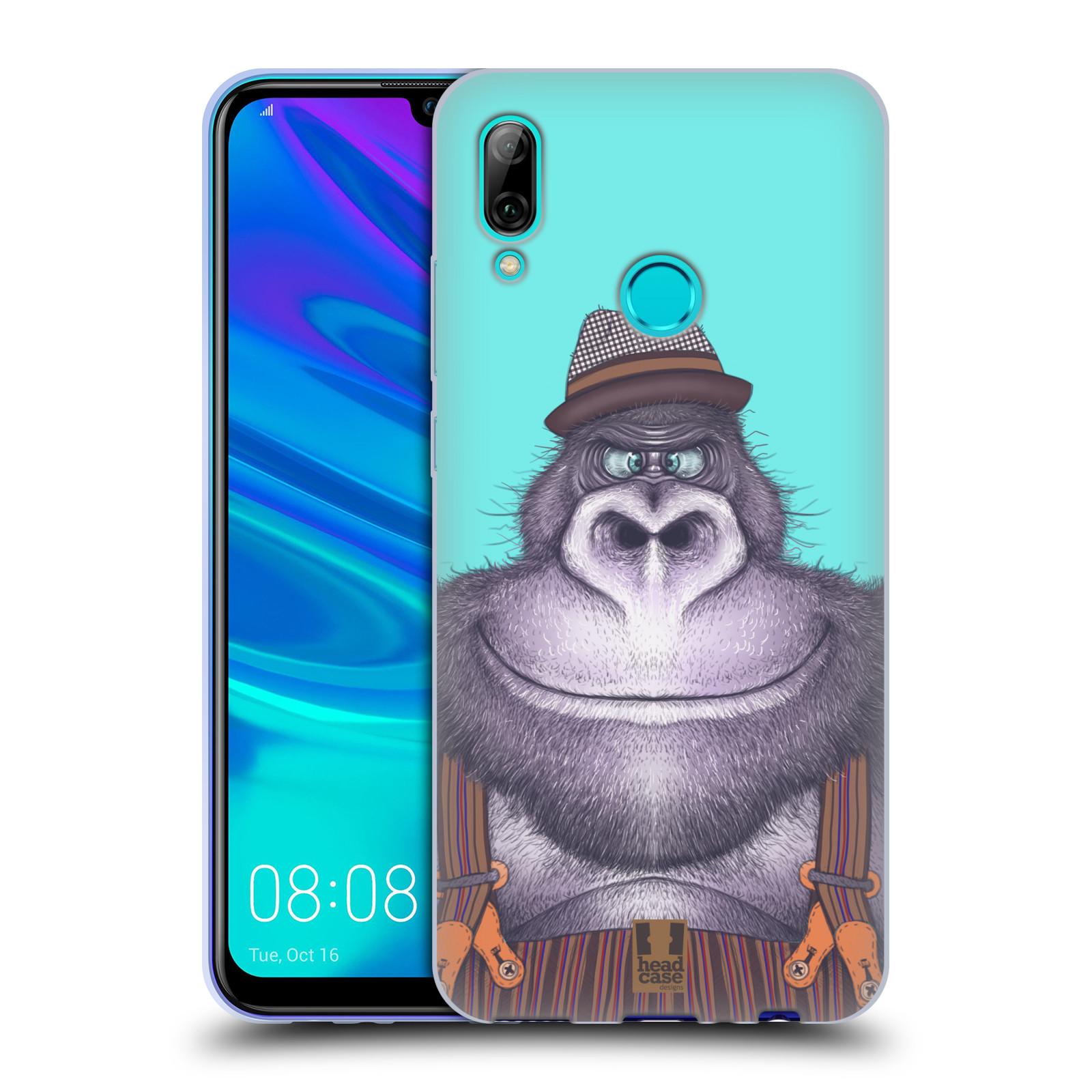 Silikonové pouzdro na mobil Huawei P Smart (2019) - Head Case - ANIMPLA GORILÁK
