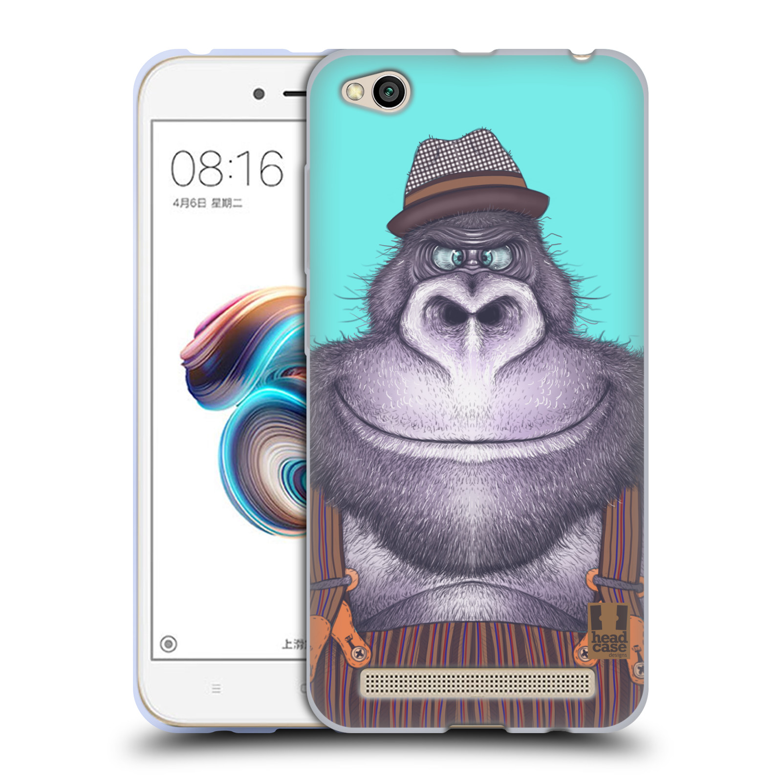Silikonové pouzdro na mobil Xiaomi Redmi 5A - Head Case - ANIMPLA GORILÁK